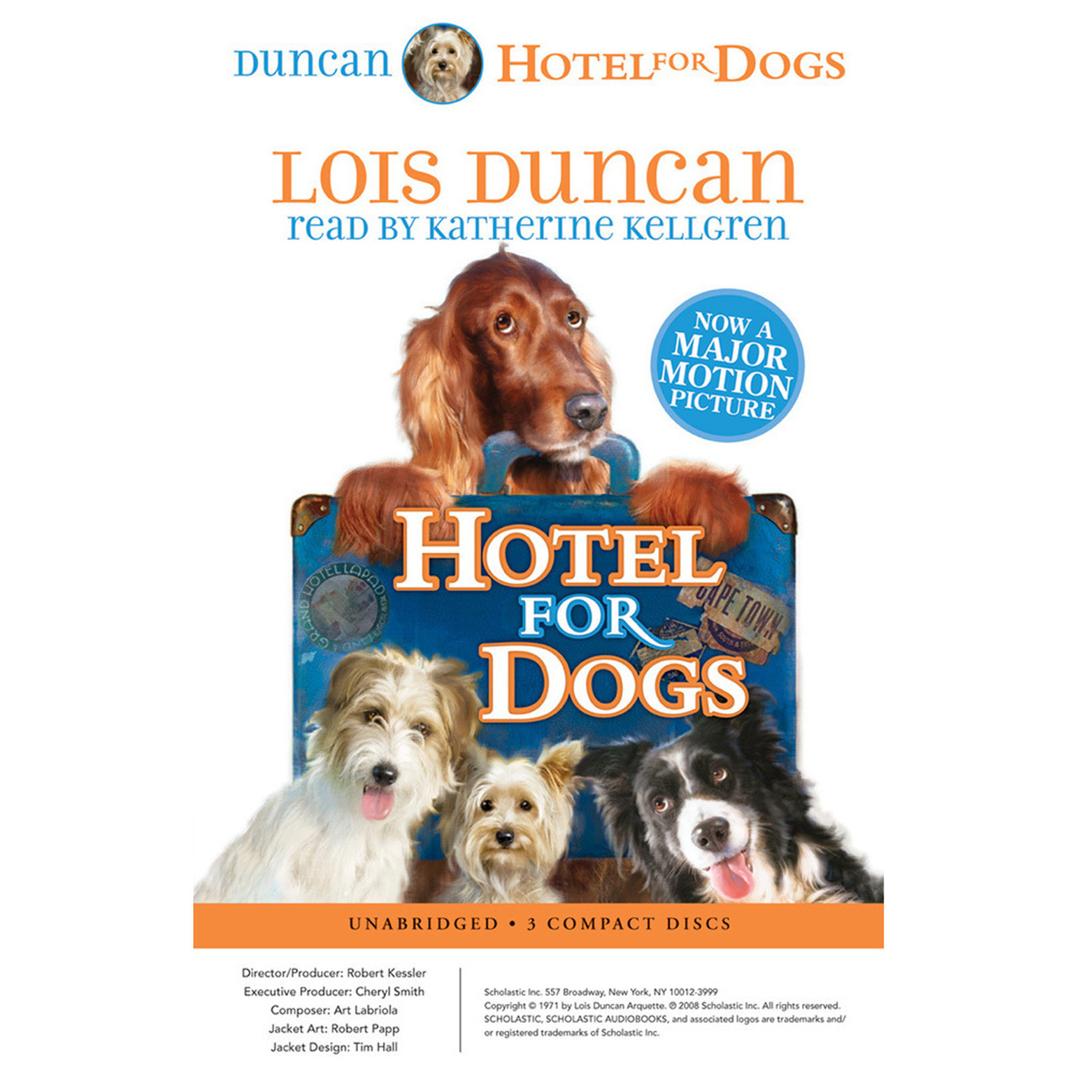 Printable Hotel for Dogs Audiobook Cover Art