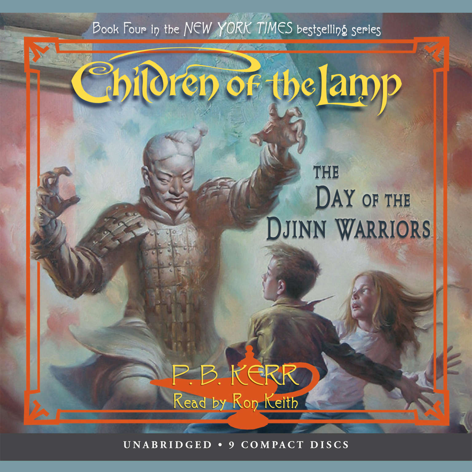 Printable The Day of the Djinn Warriors Audiobook Cover Art