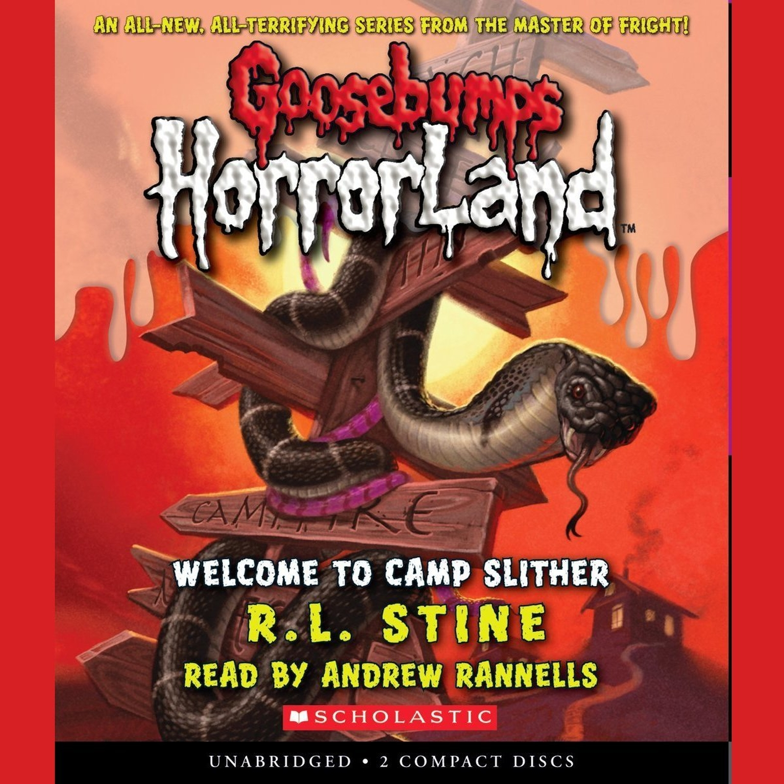 Printable Welcome to Camp Slither Audiobook Cover Art