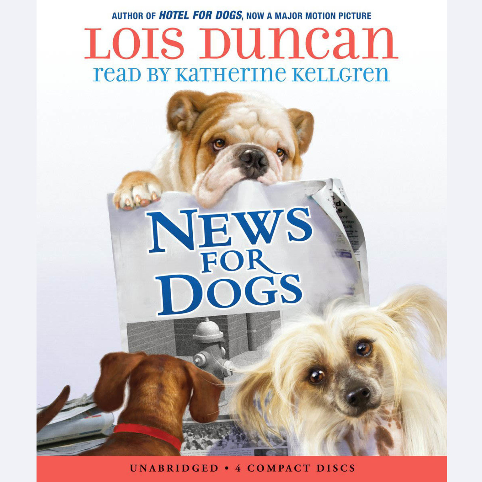 Printable News for Dogs Audiobook Cover Art