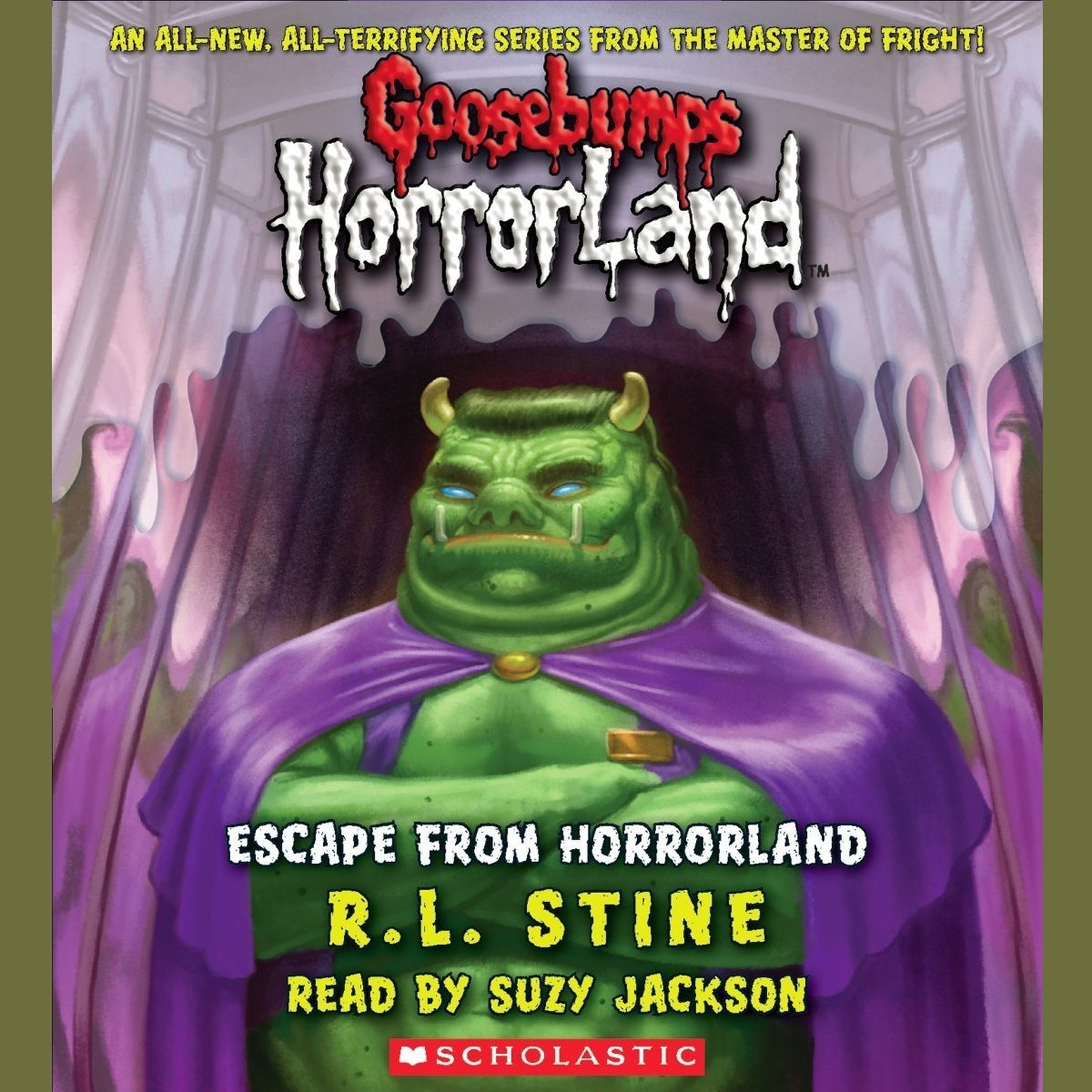 Printable Escape from HorrorLand Audiobook Cover Art
