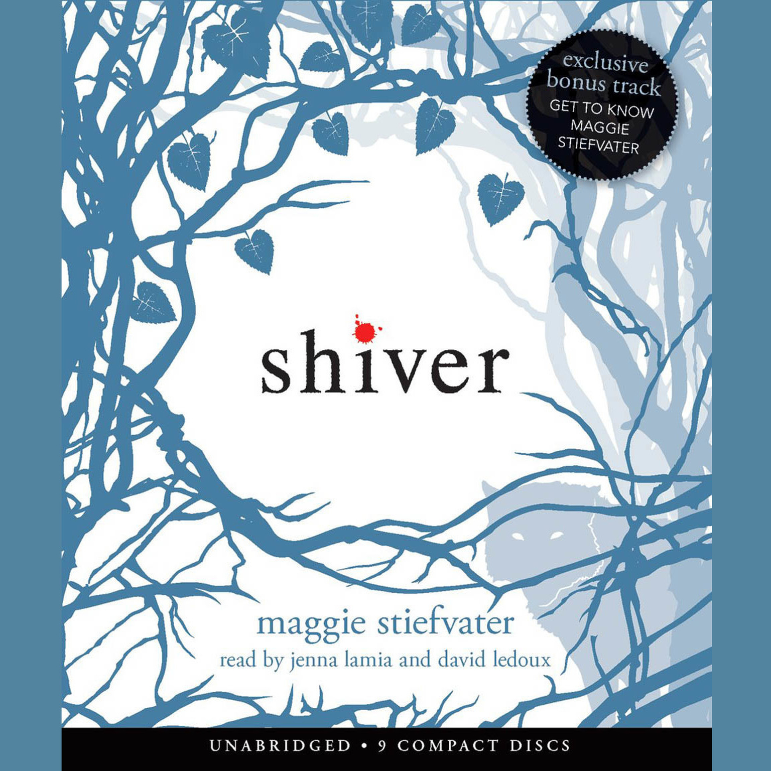 Printable Shiver Audiobook Cover Art