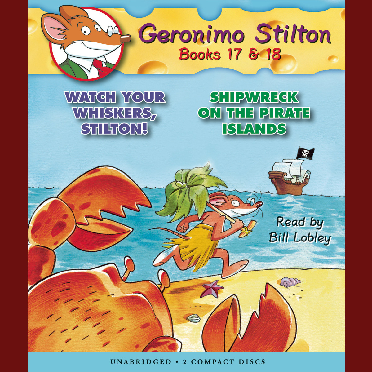 Printable Watch Your Whiskers, Stilton! & Shipwreck on the Pirate Islands Audiobook Cover Art