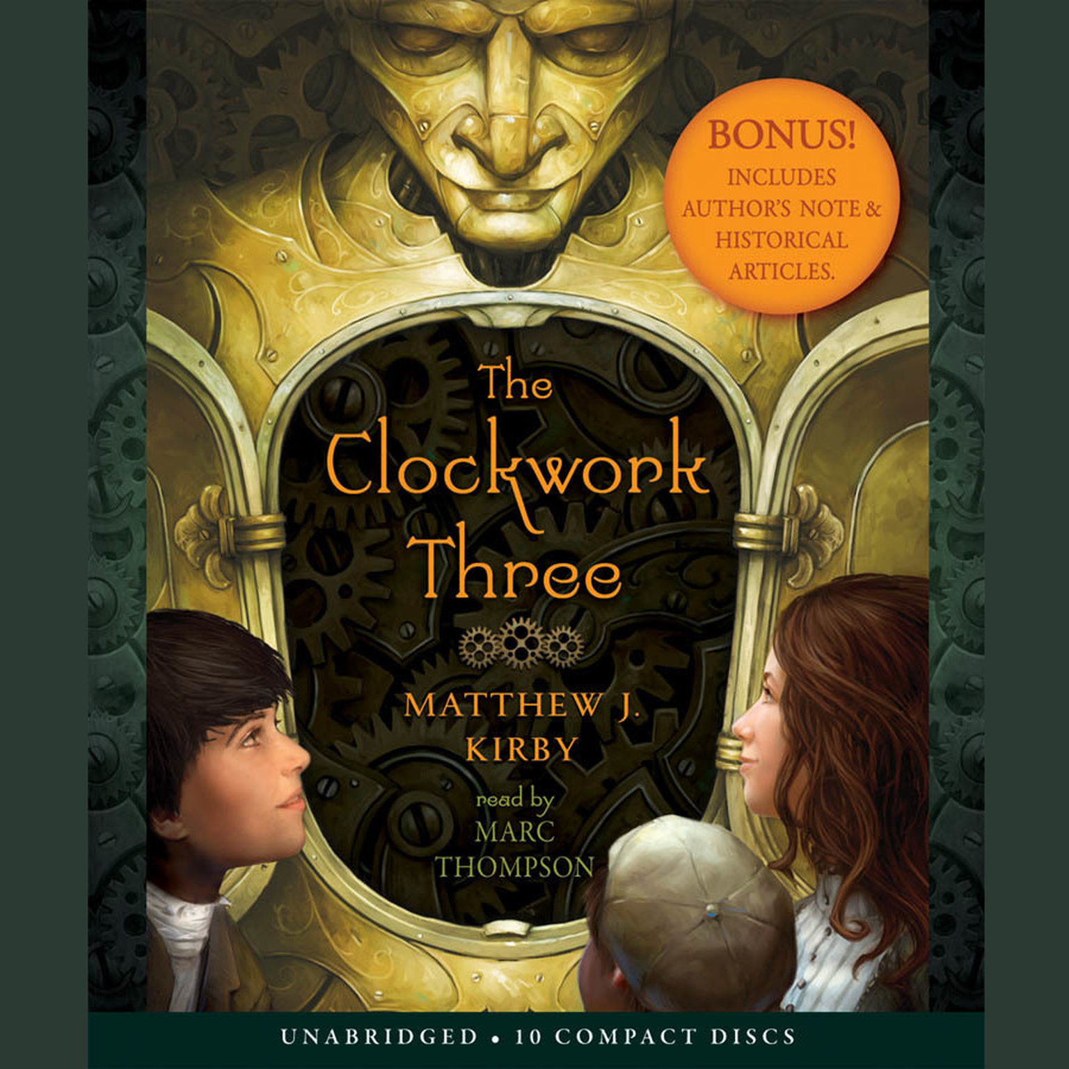 Printable The Clockwork Three Audiobook Cover Art