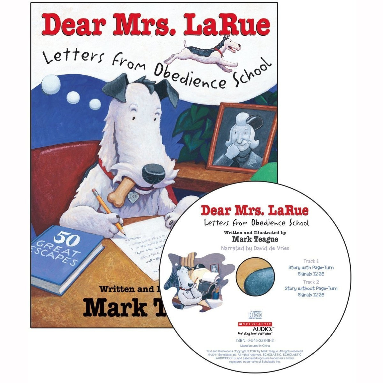 Printable Dear Mrs. LaRue: Letters from Obedience School Audiobook Cover Art