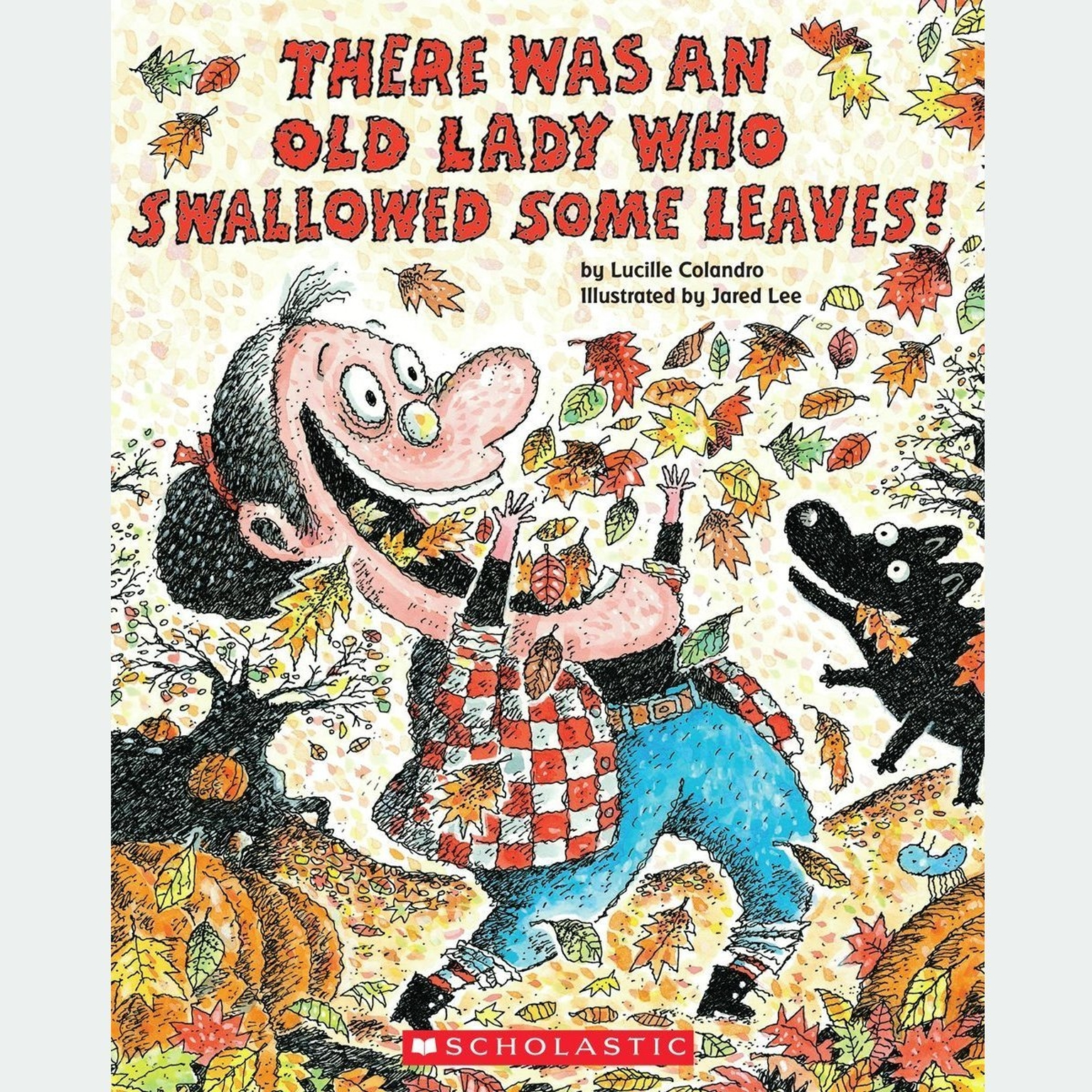 Printable There Was an Old Lady Who Swallowed Some Leaves! Audiobook Cover Art
