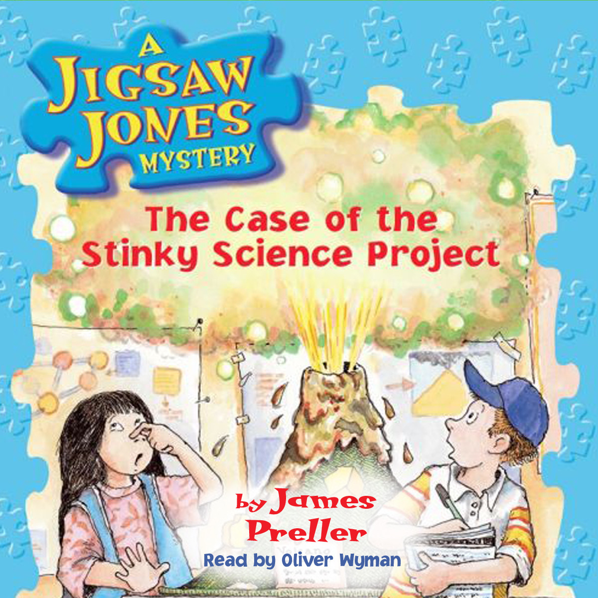 Printable The Case of the Stinky Science Project Audiobook Cover Art