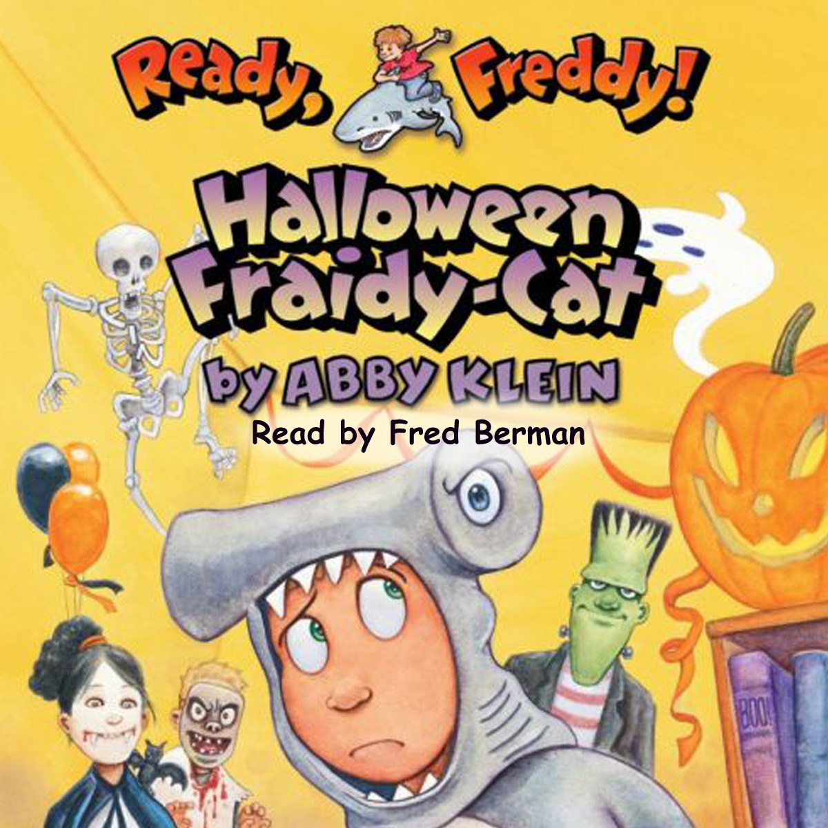 Printable Halloween Fraidy-Cat Audiobook Cover Art