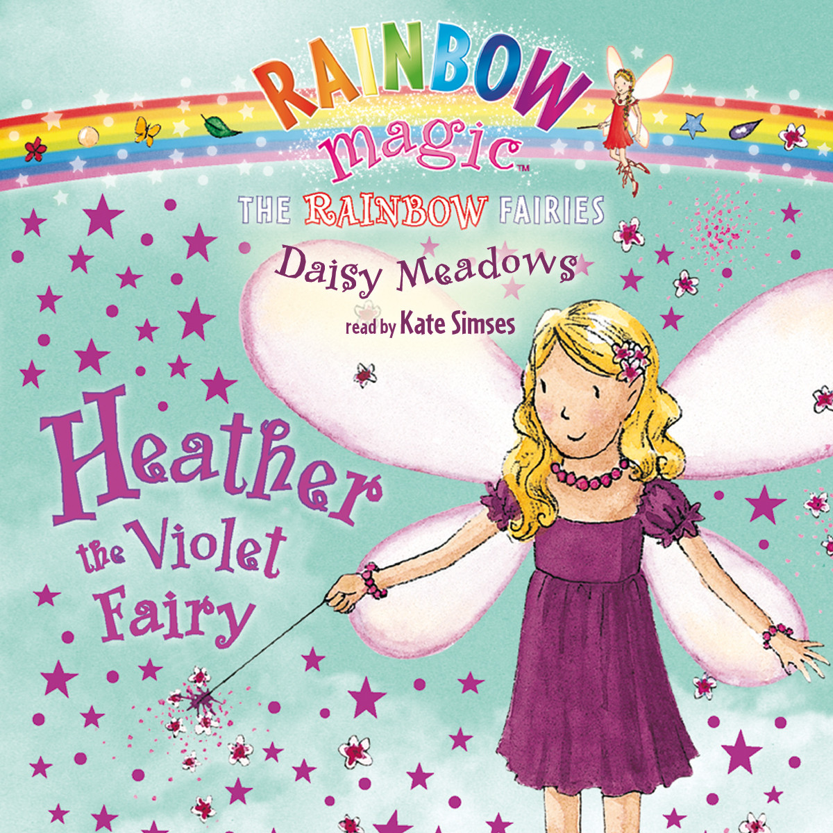 Printable Heather the Violet Fairy Audiobook Cover Art