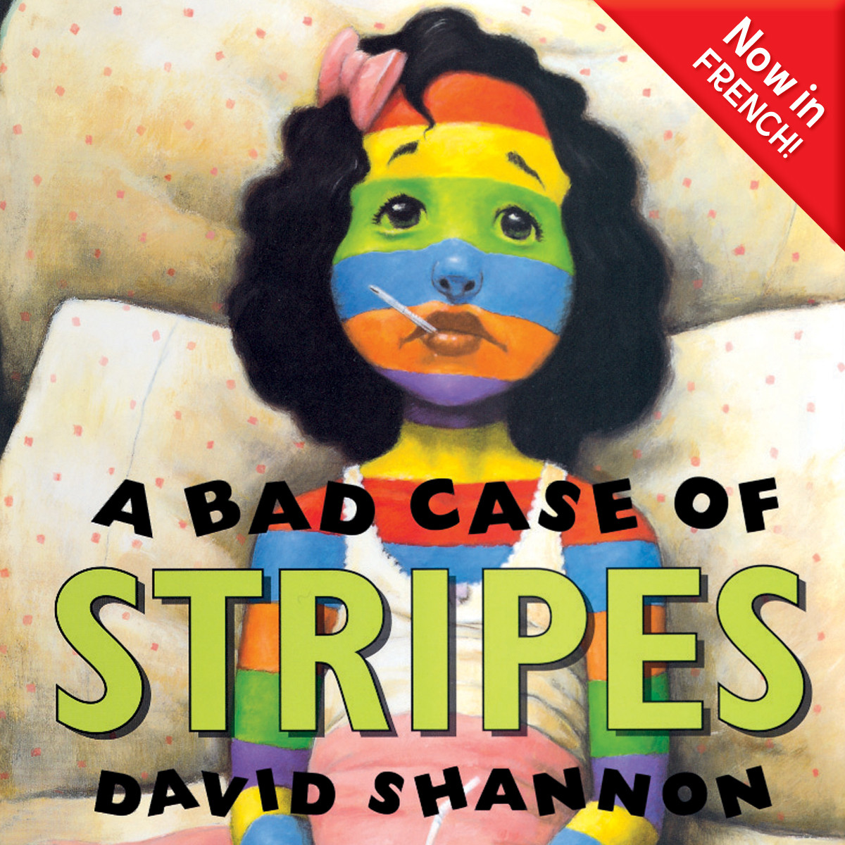 Printable A Bad Case of Stripes (French) Audiobook Cover Art