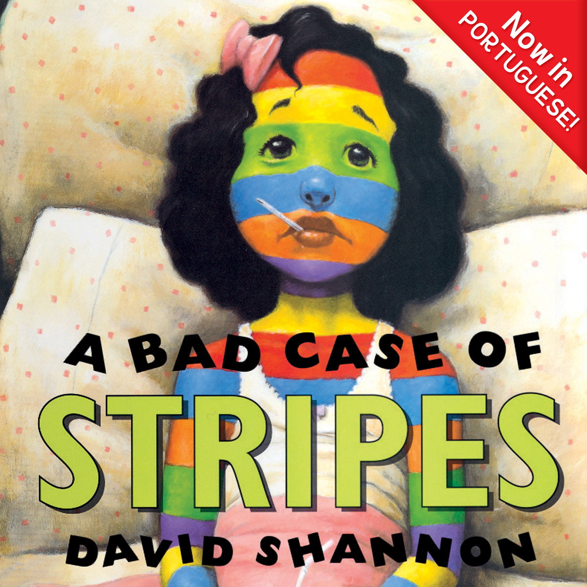 Printable A Bad Case of Stripes (Portuguese) Audiobook Cover Art