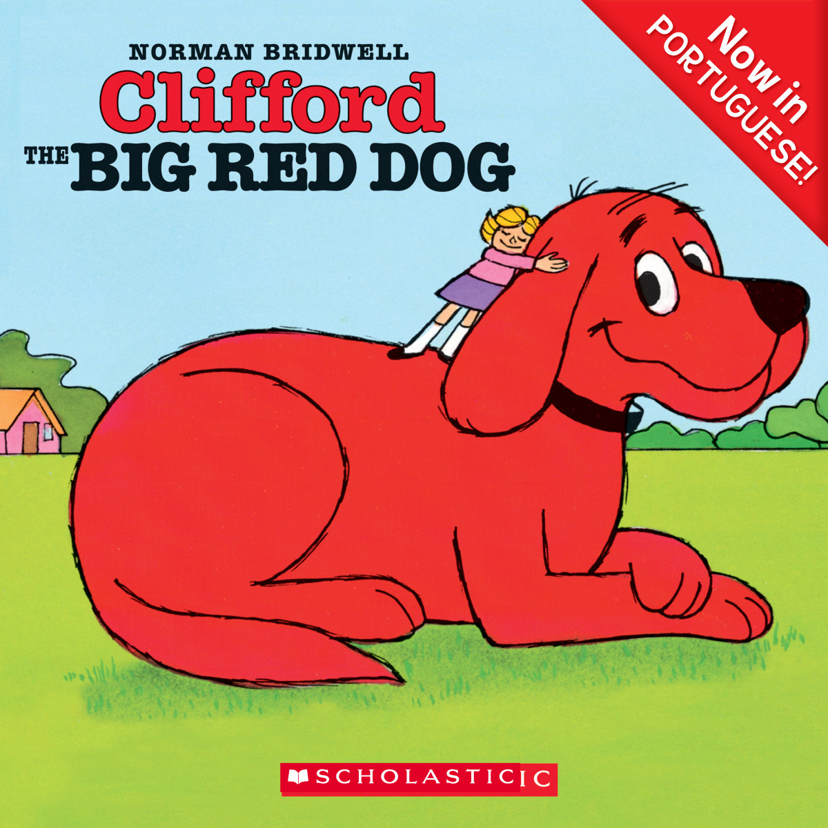 Printable Clifford the Big Red Dog (Portuguese) Audiobook Cover Art