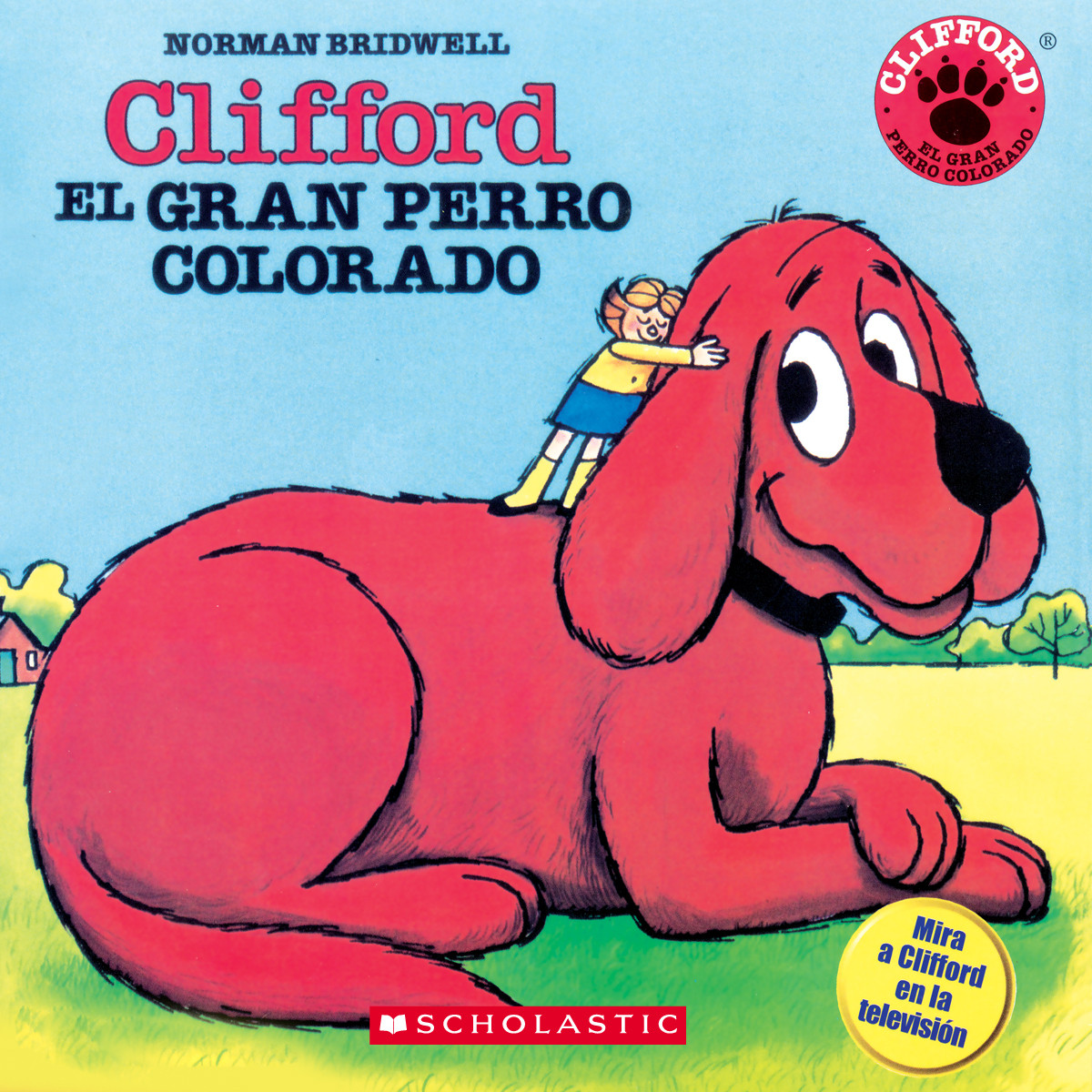 Printable Clifford the Big Red Dog (Spanish) Audiobook Cover Art