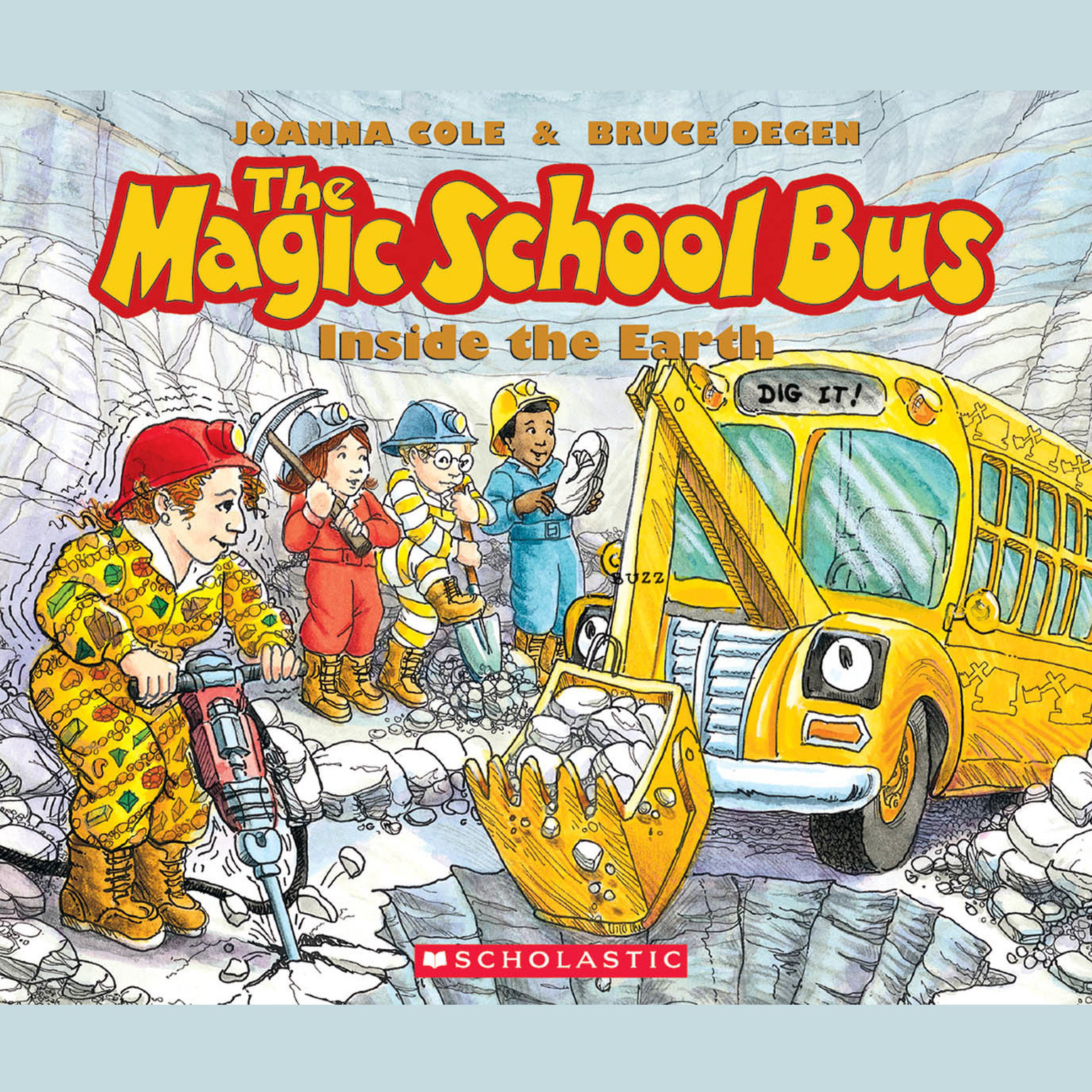 Printable The Magic School Bus Inside the Earth Audiobook Cover Art