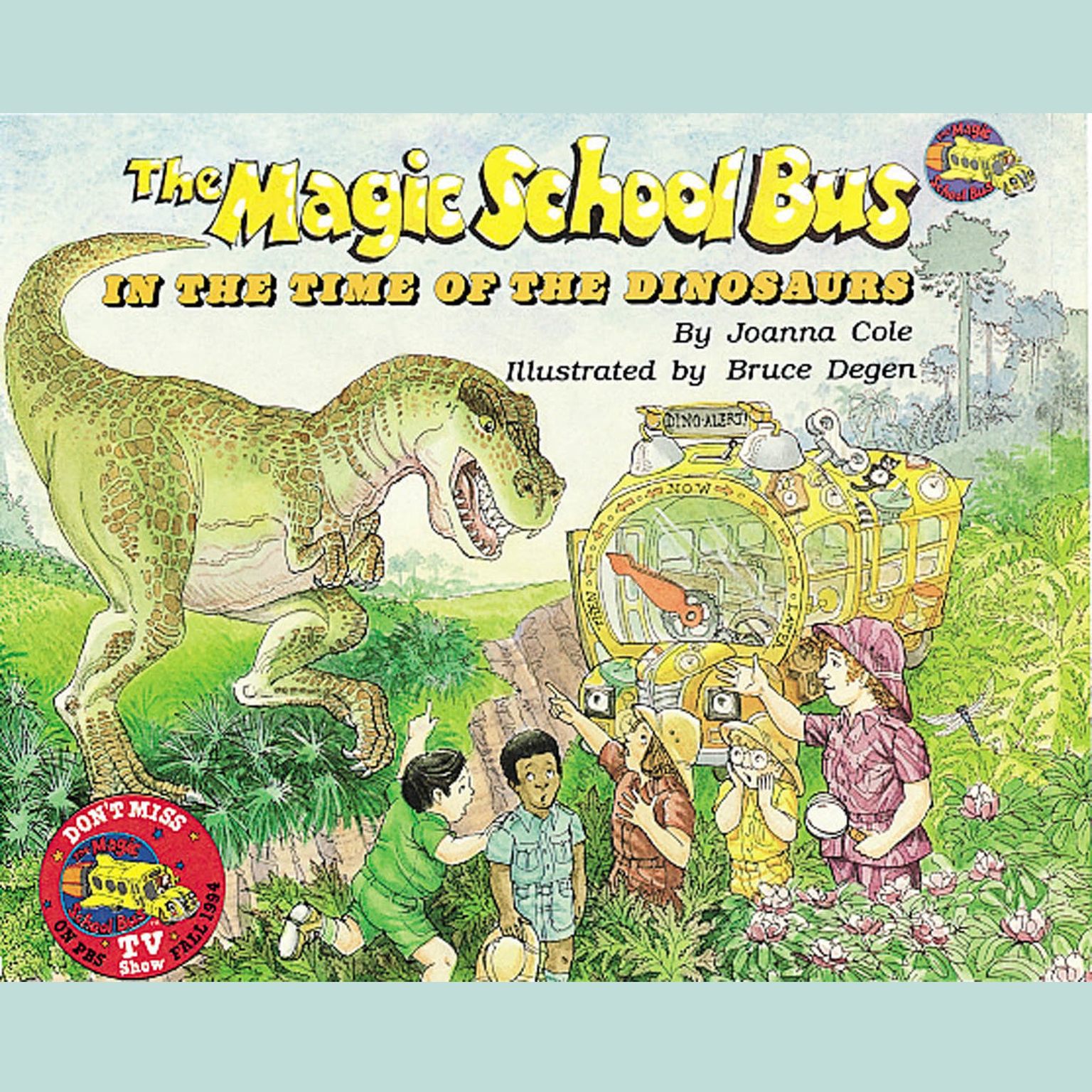 Printable The Magic School Bus in the Time of the Dinosaurs Audiobook Cover Art