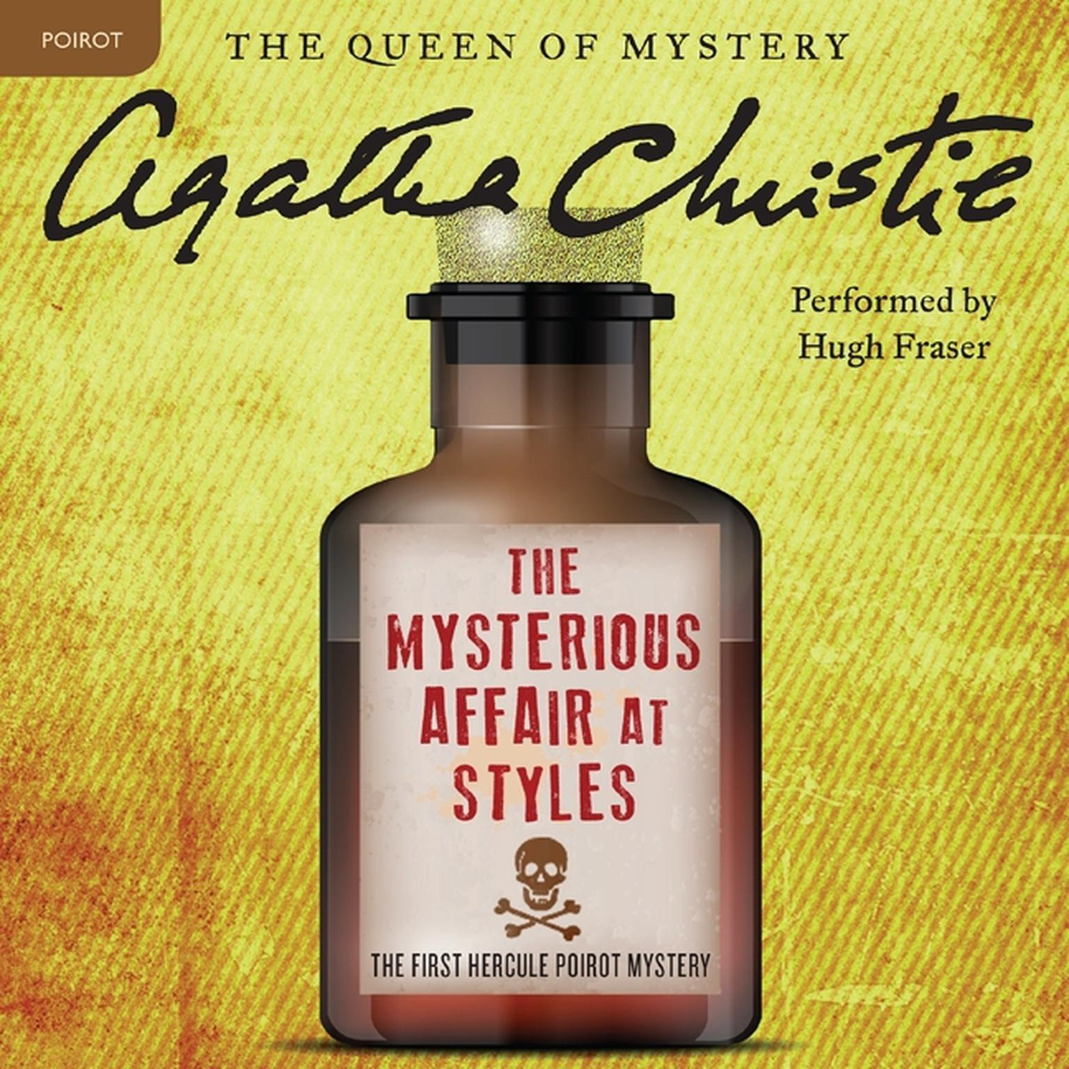 Printable The Mysterious Affair at Styles: A Hercule Poirot Mystery Audiobook Cover Art