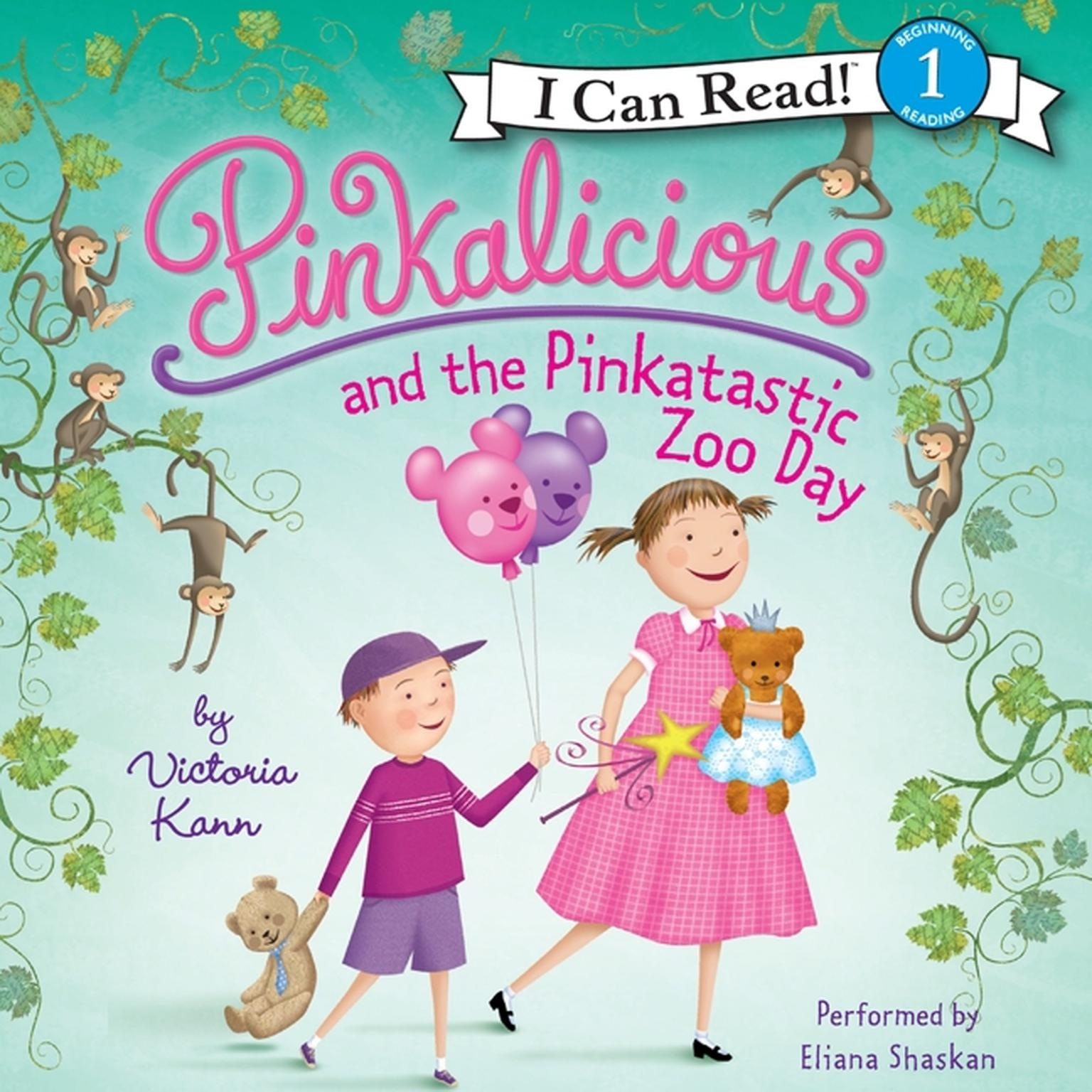 Printable Pinkalicious and the Pinkatastic Zoo Day Audiobook Cover Art