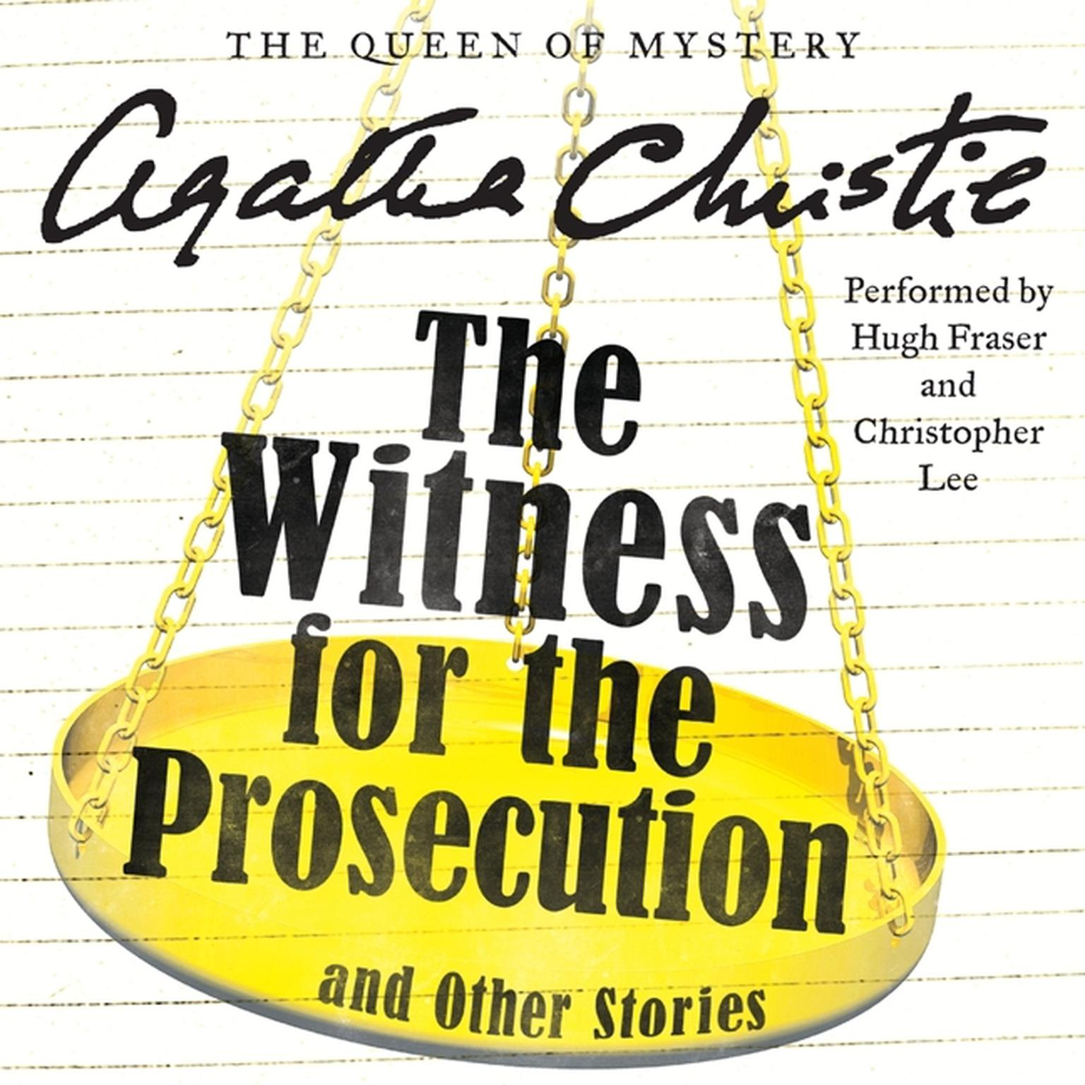 Printable The Witness for the Prosecution, and Other Stories Audiobook Cover Art