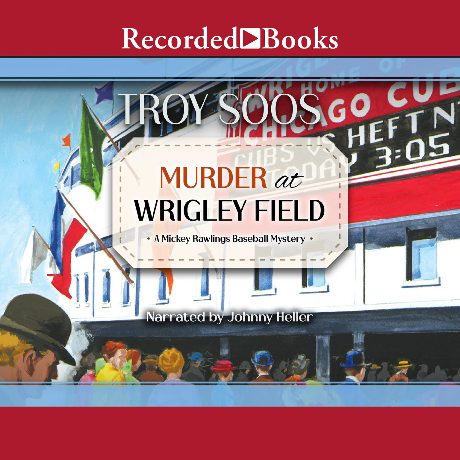 Printable Murder at Wrigley Field Audiobook Cover Art