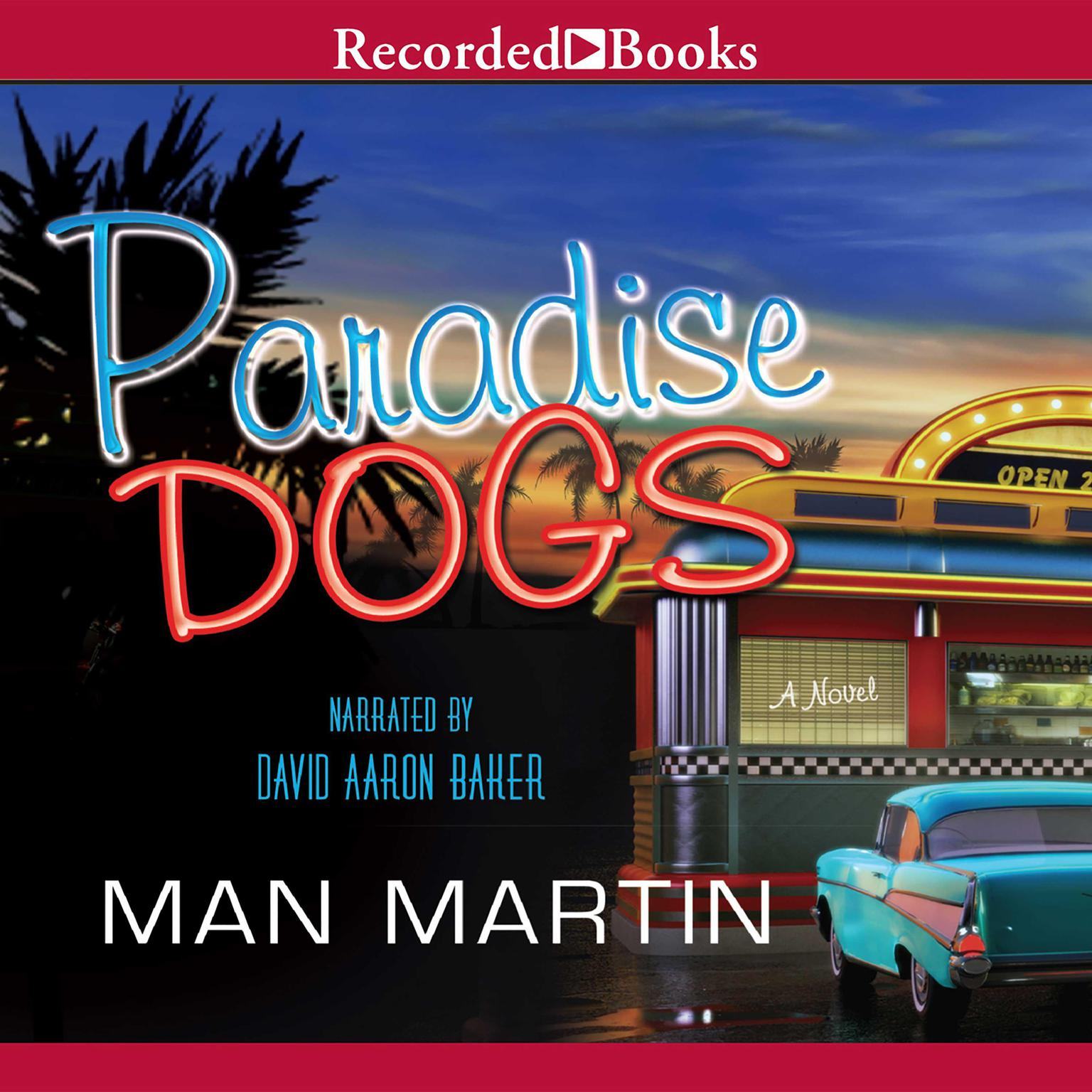 Printable Paradise Dogs Audiobook Cover Art