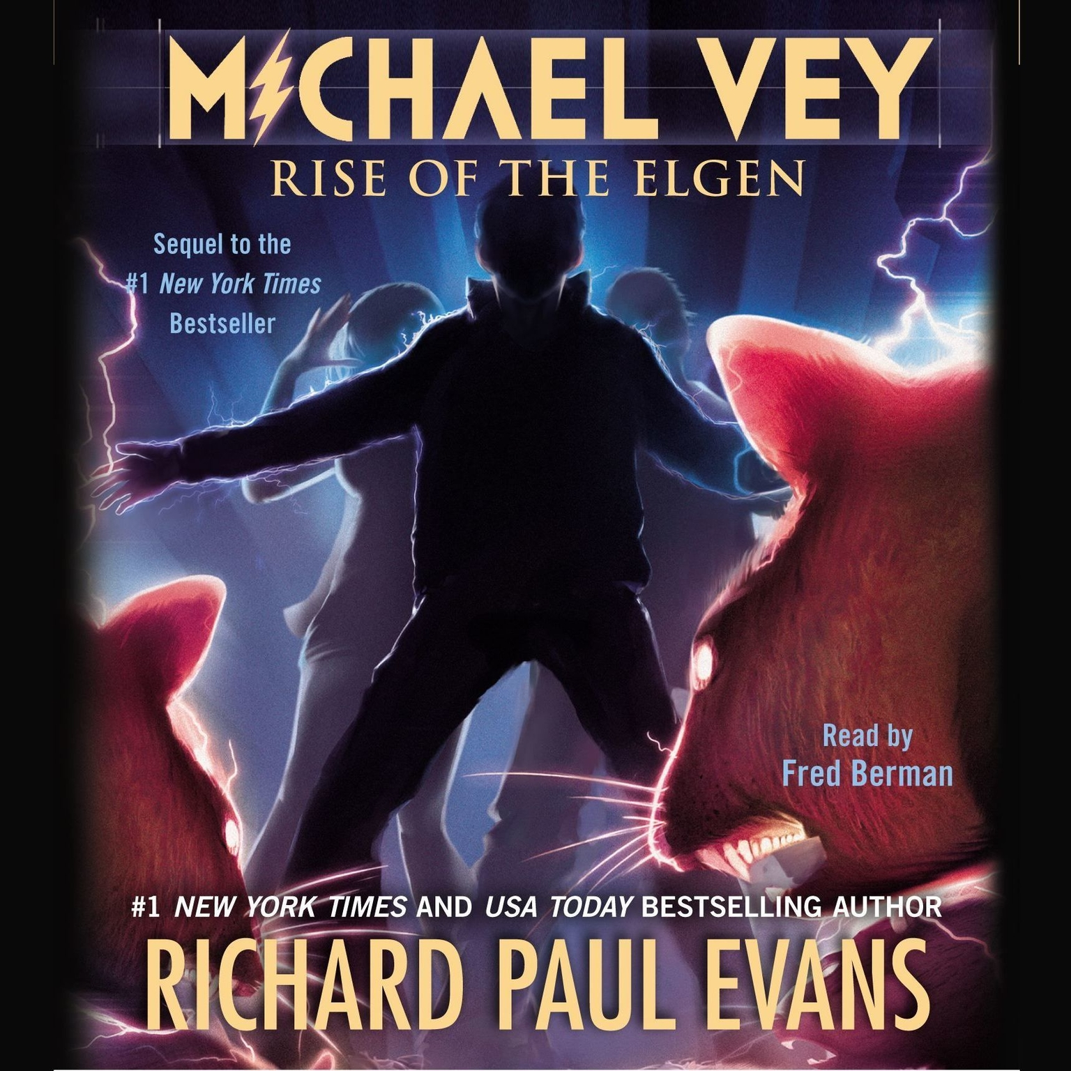 Printable Michael Vey 2: Rise of the Elgen Audiobook Cover Art