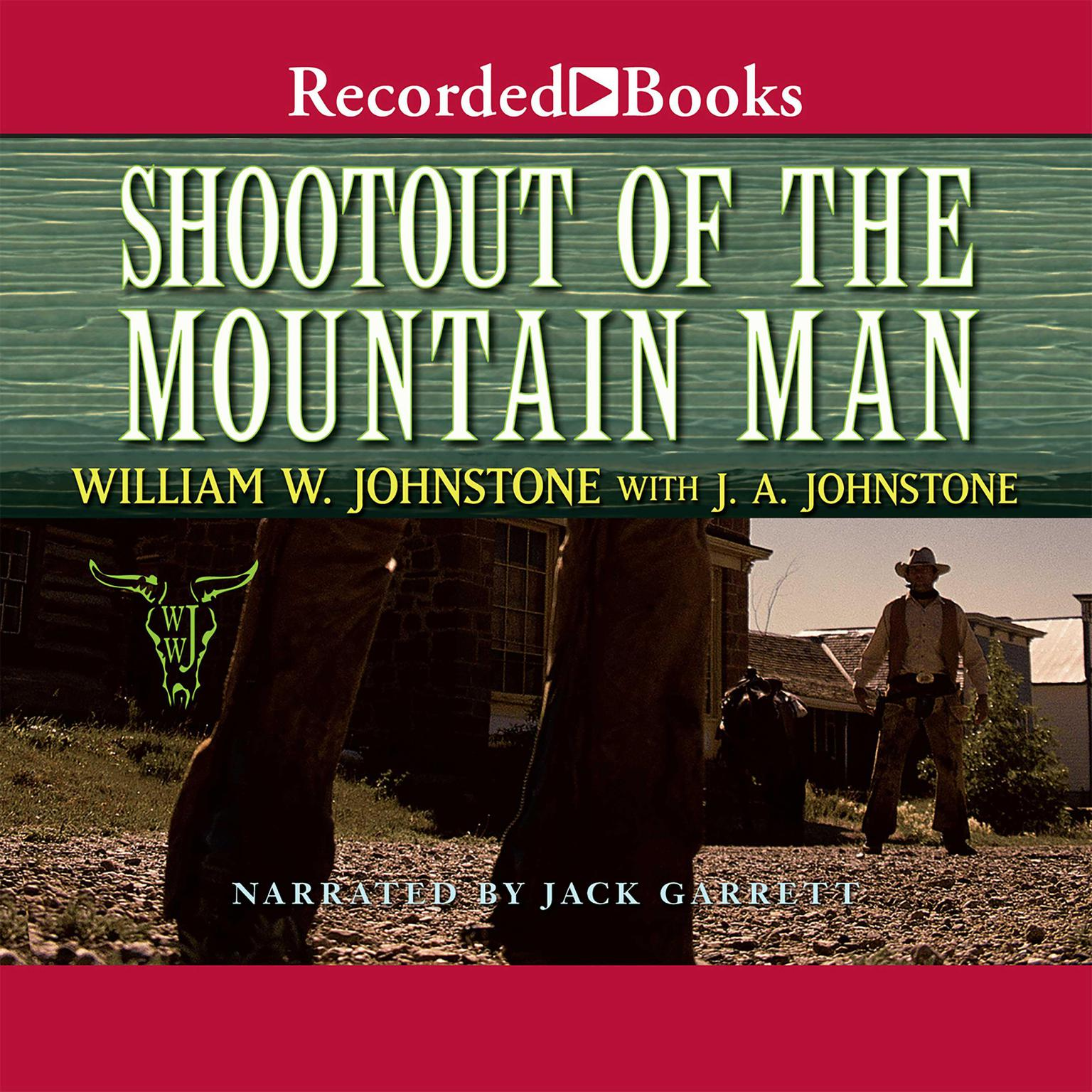 Printable Shootout of the Mountain Man Audiobook Cover Art