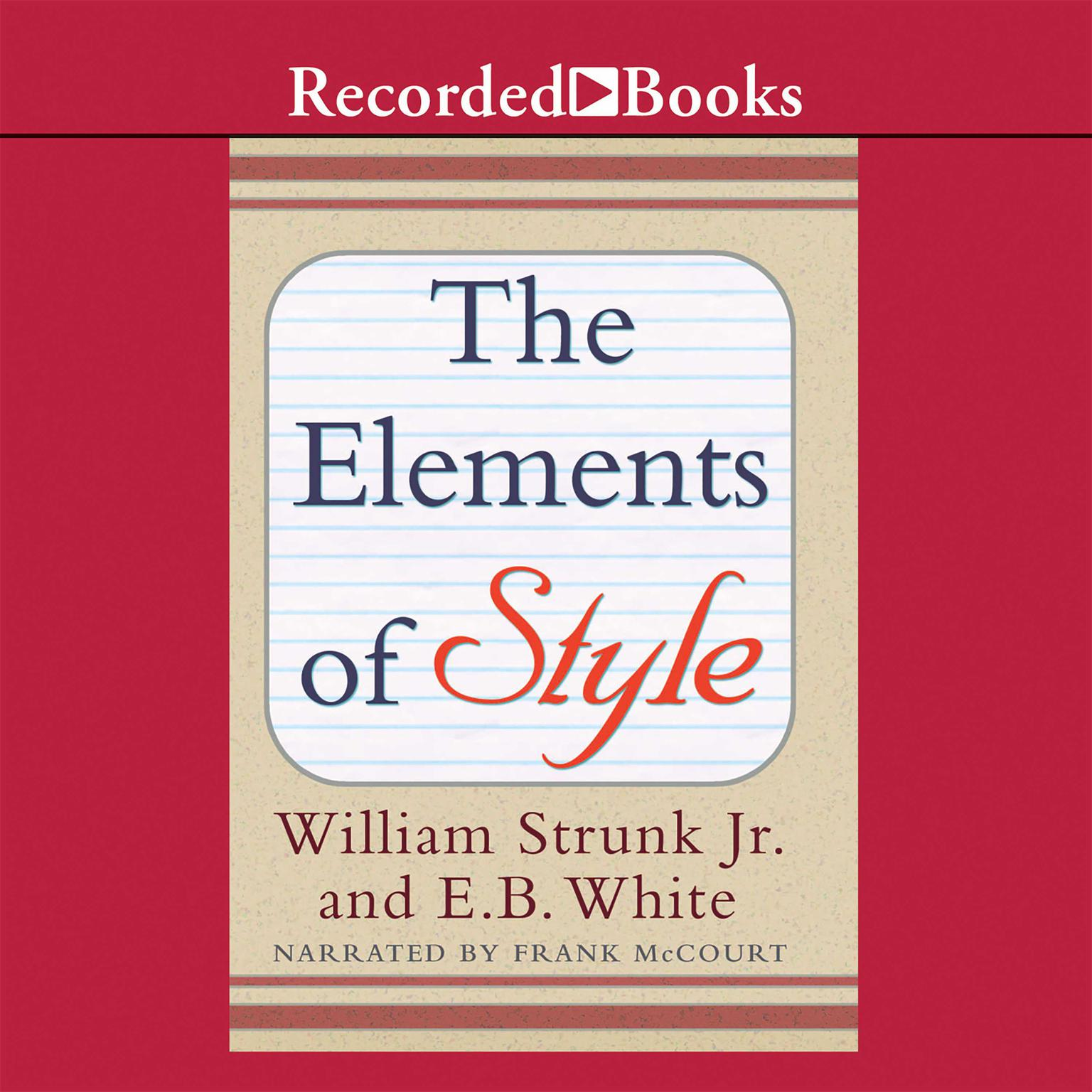 Printable The Elements of Style: 4th Edition Audiobook Cover Art