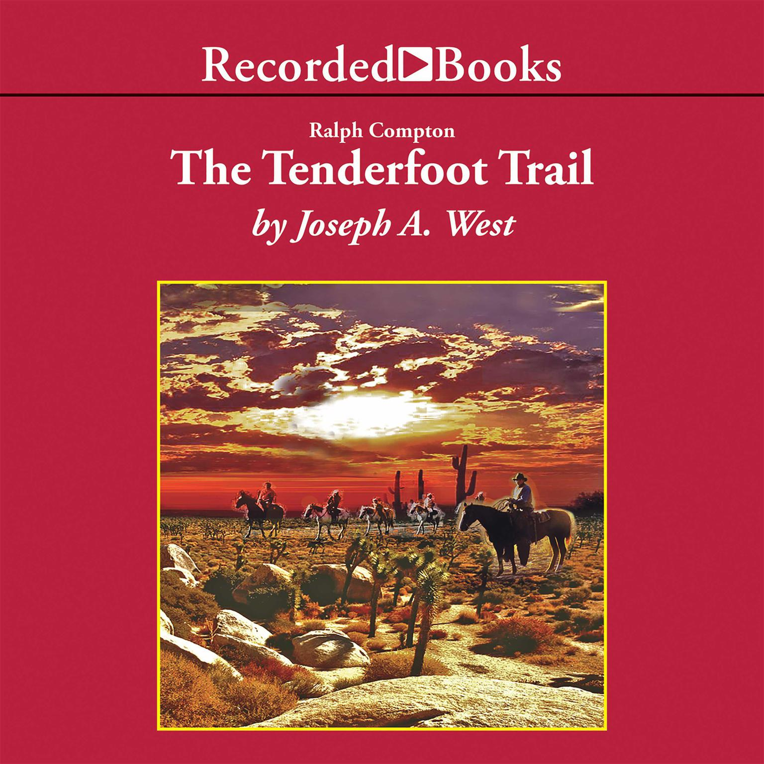 Printable Ralph Compton The Tenderfoot Trail Audiobook Cover Art