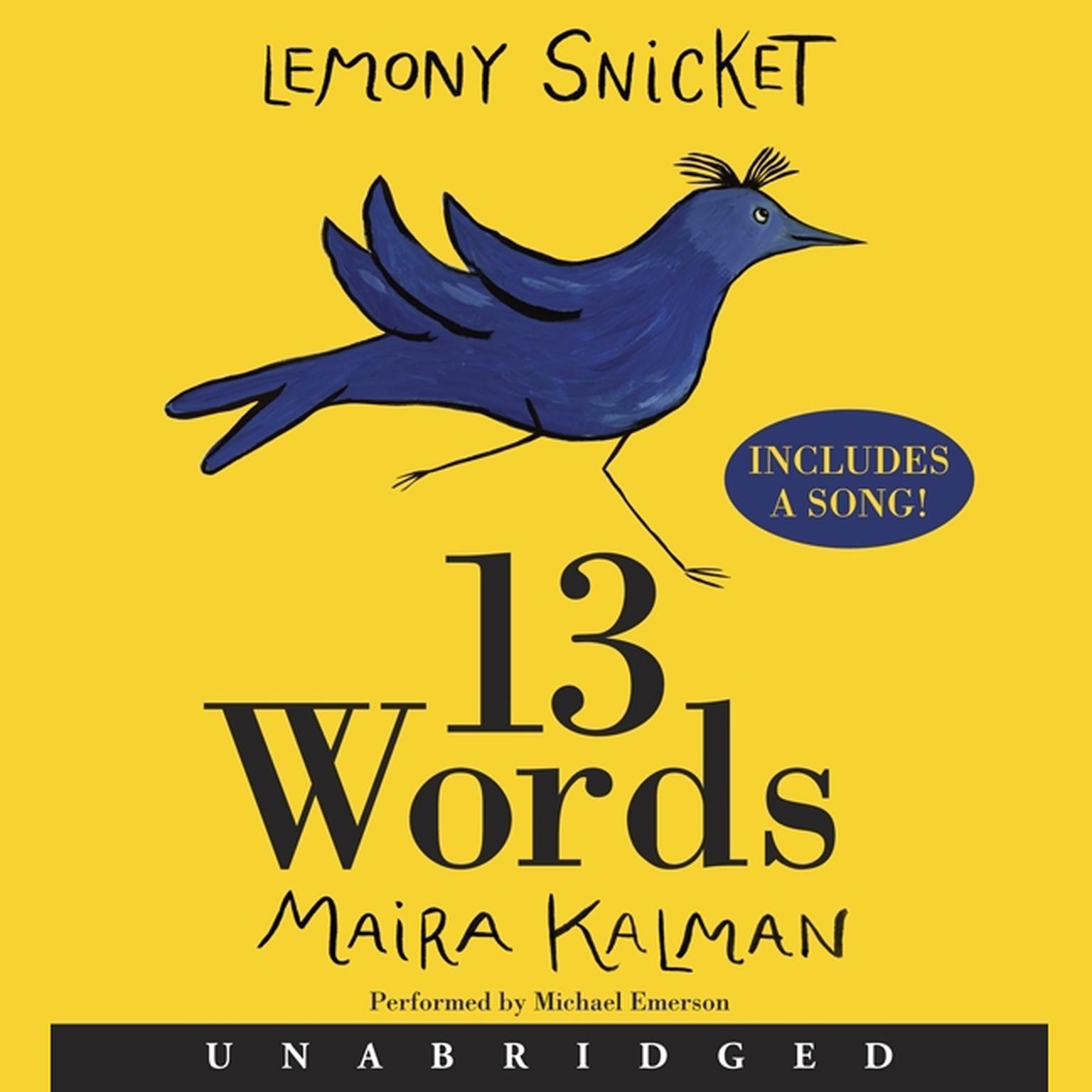 Printable 13 Words Audiobook Cover Art