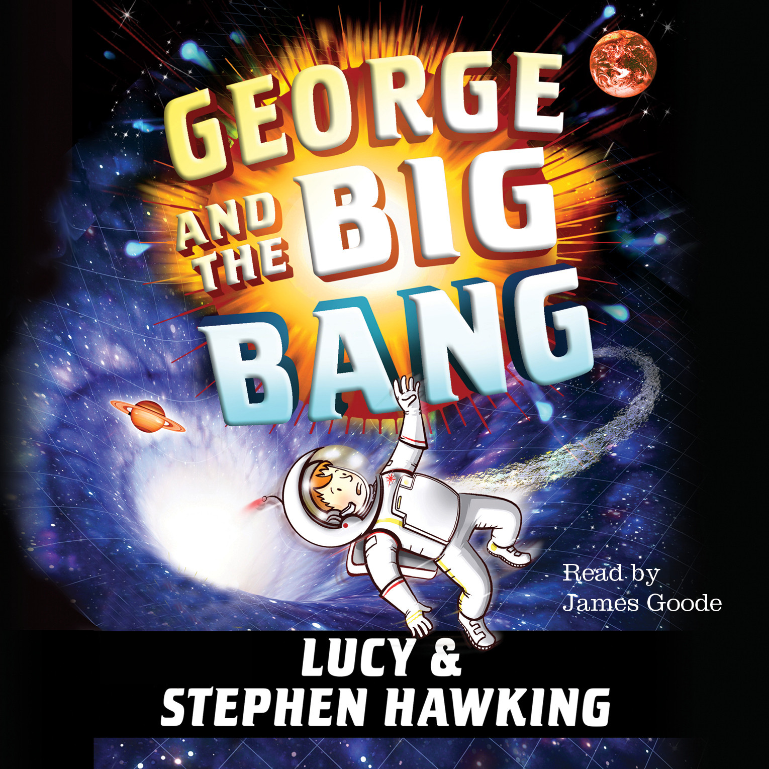 Printable George and the Big Bang Audiobook Cover Art