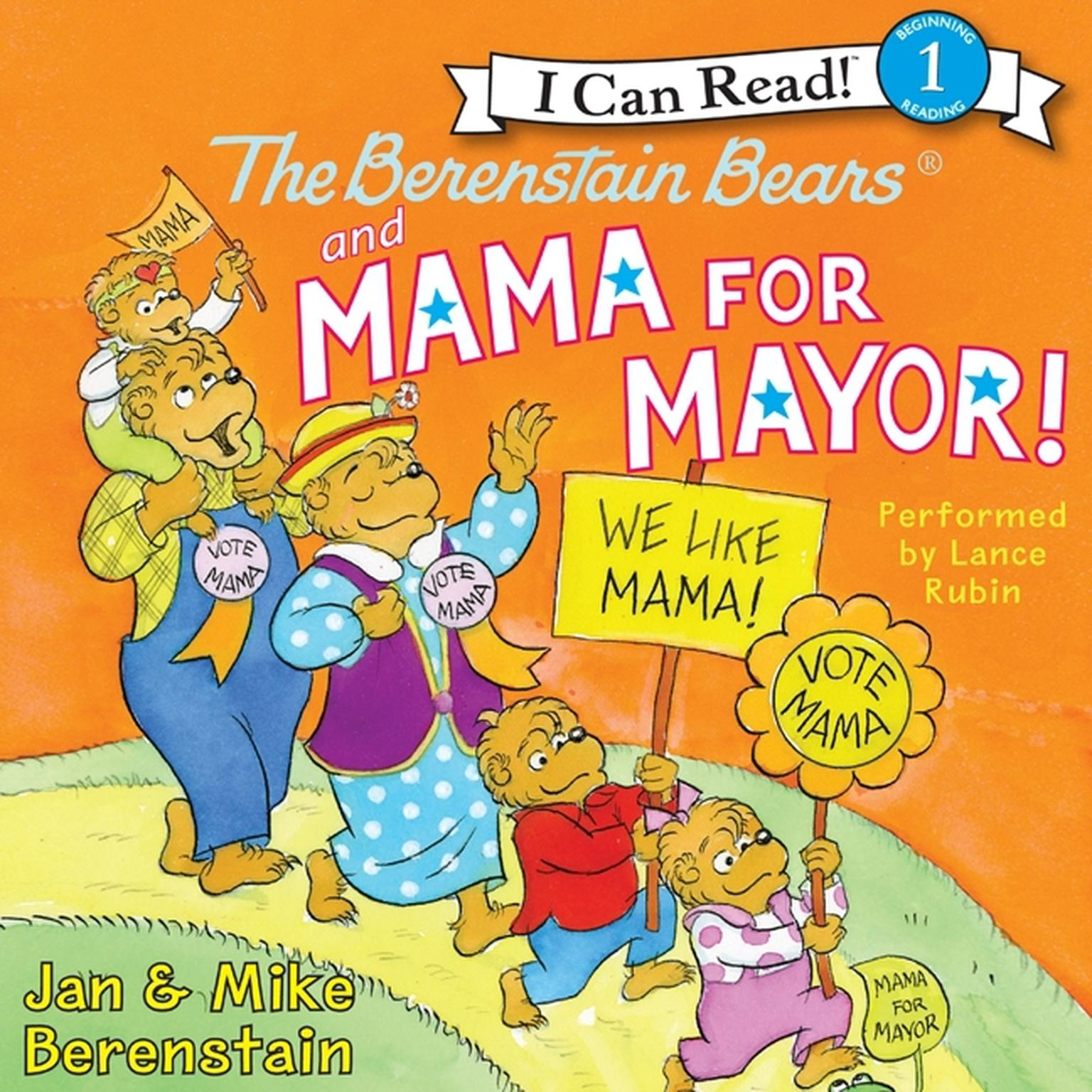 Printable The Berenstain Bears and Mama for Mayor! Audiobook Cover Art