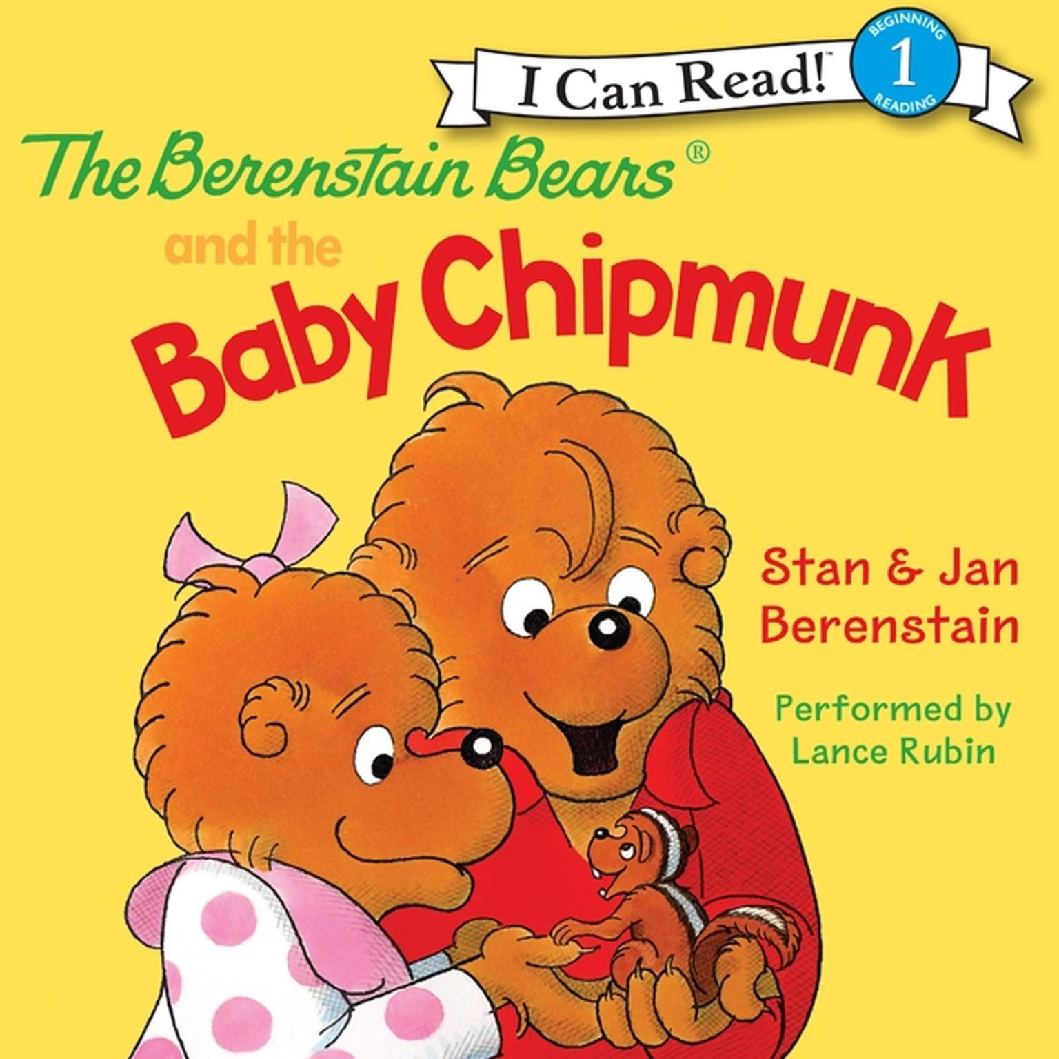Printable The Berenstain Bears and the Baby Chipmunk Audiobook Cover Art