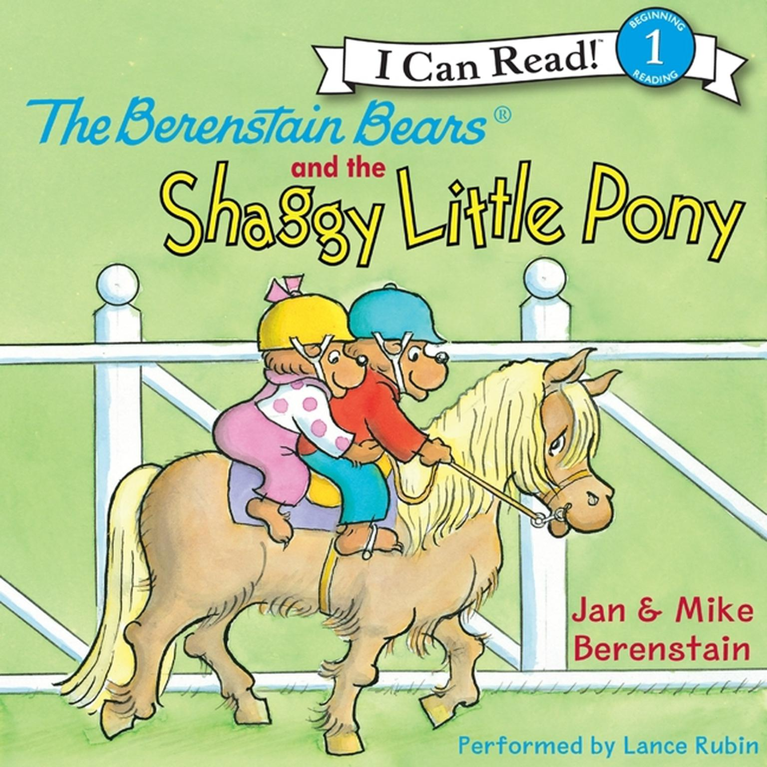 Printable The Berenstain Bears and the Shaggy Little Pony Audiobook Cover Art