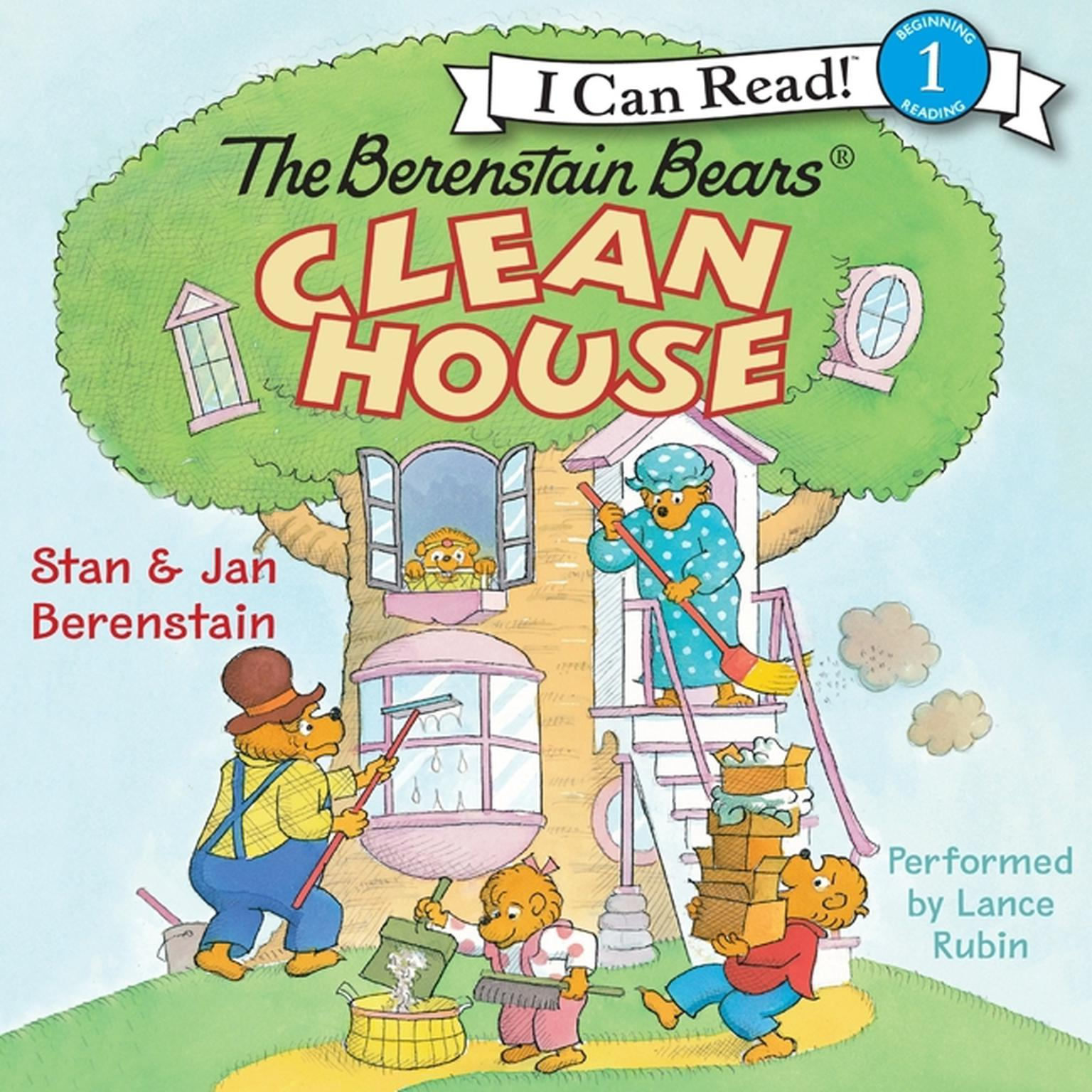 Printable The Berenstain Bears Clean House Audiobook Cover Art