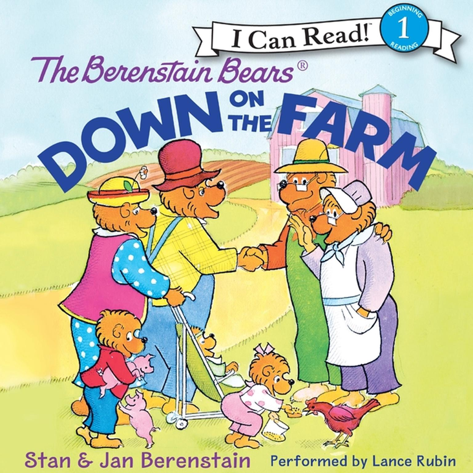 Printable The Berenstain Bears Down on the Farm Audiobook Cover Art