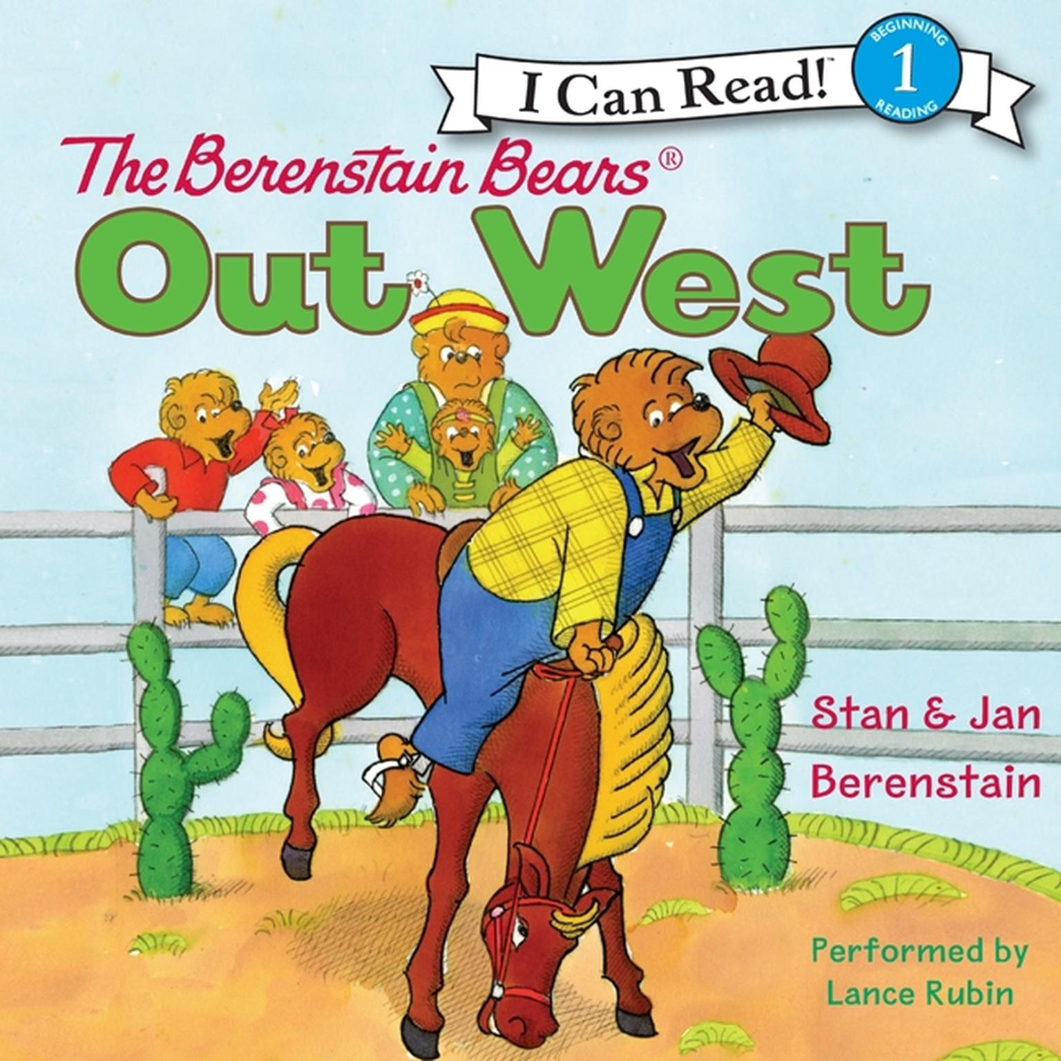 Printable The Berenstain Bears Out West Audiobook Cover Art