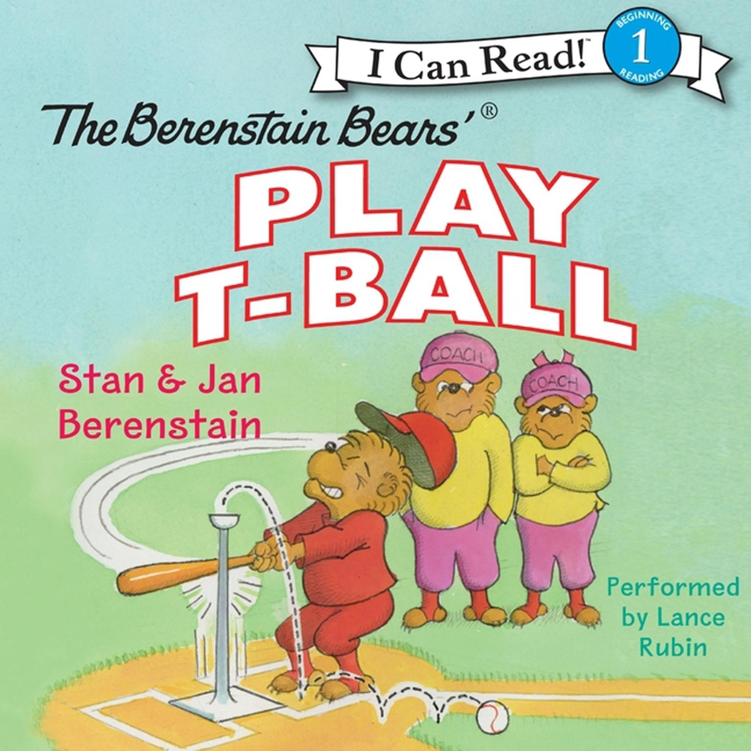 Printable The Berenstain Bears Play T-Ball Audiobook Cover Art