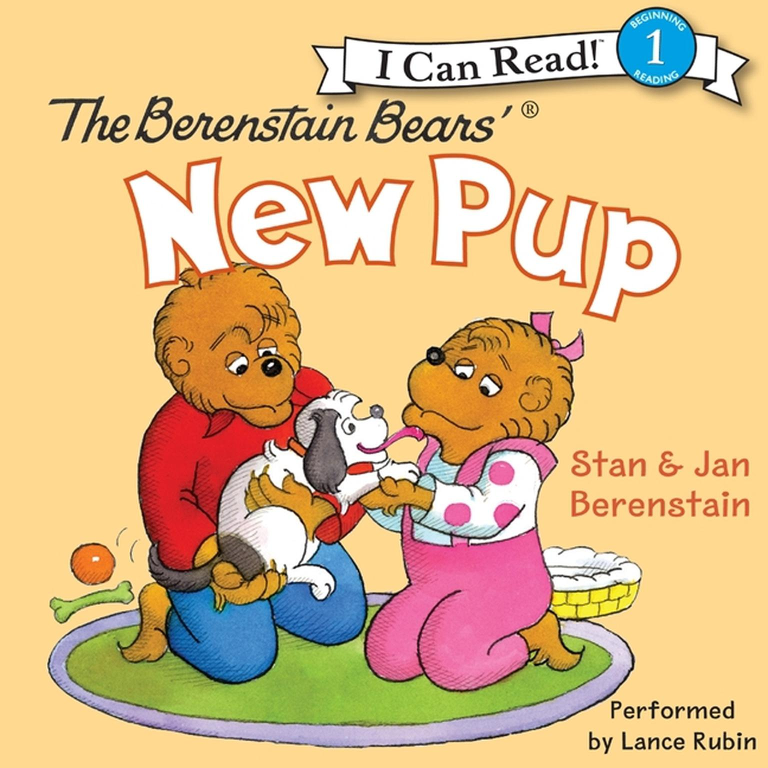 Printable The Berenstain Bears' New Pup Audiobook Cover Art