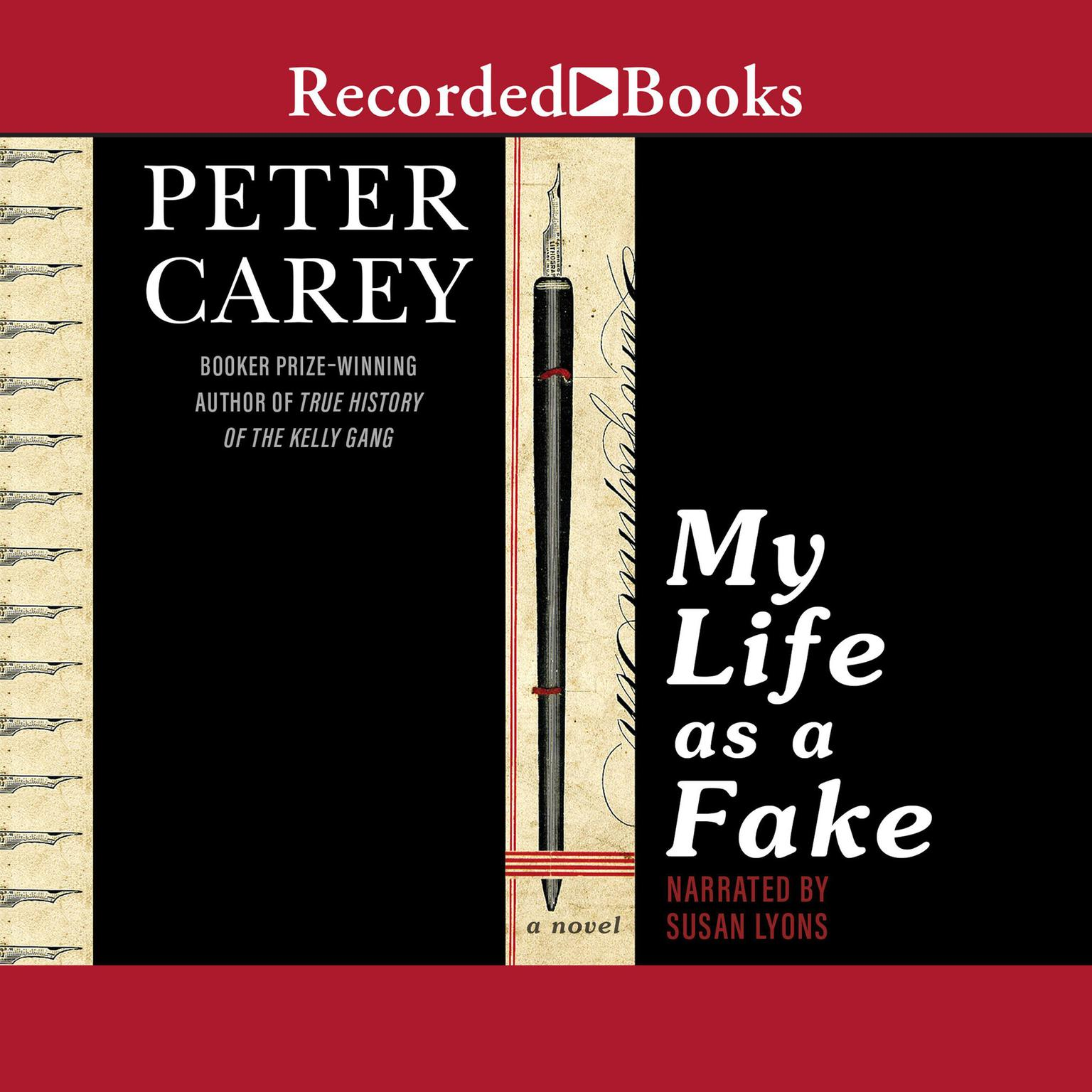 Printable My Life as a Fake Audiobook Cover Art
