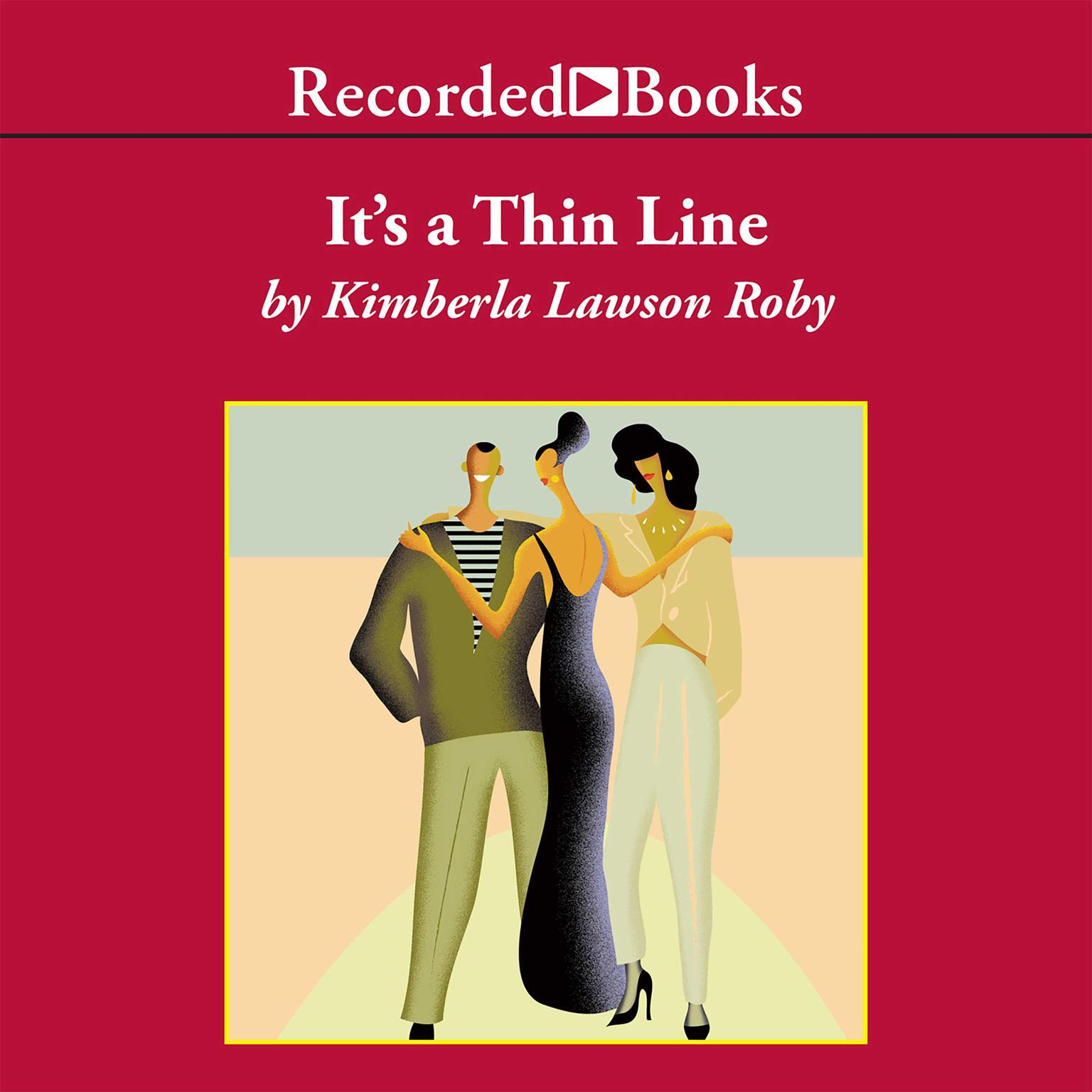 Printable It's a Thin Line Audiobook Cover Art