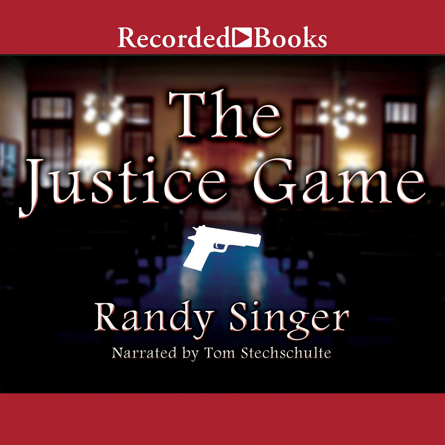 Printable The Justice Game Audiobook Cover Art