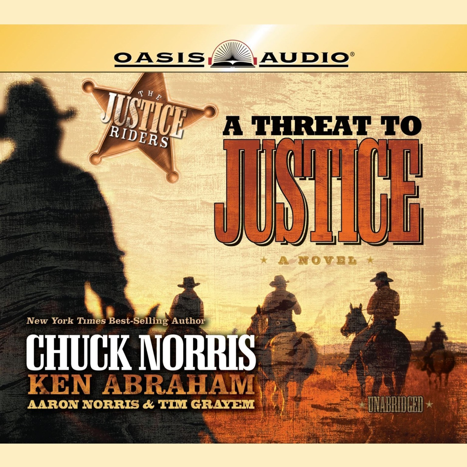 Printable A Threat to Justice Audiobook Cover Art