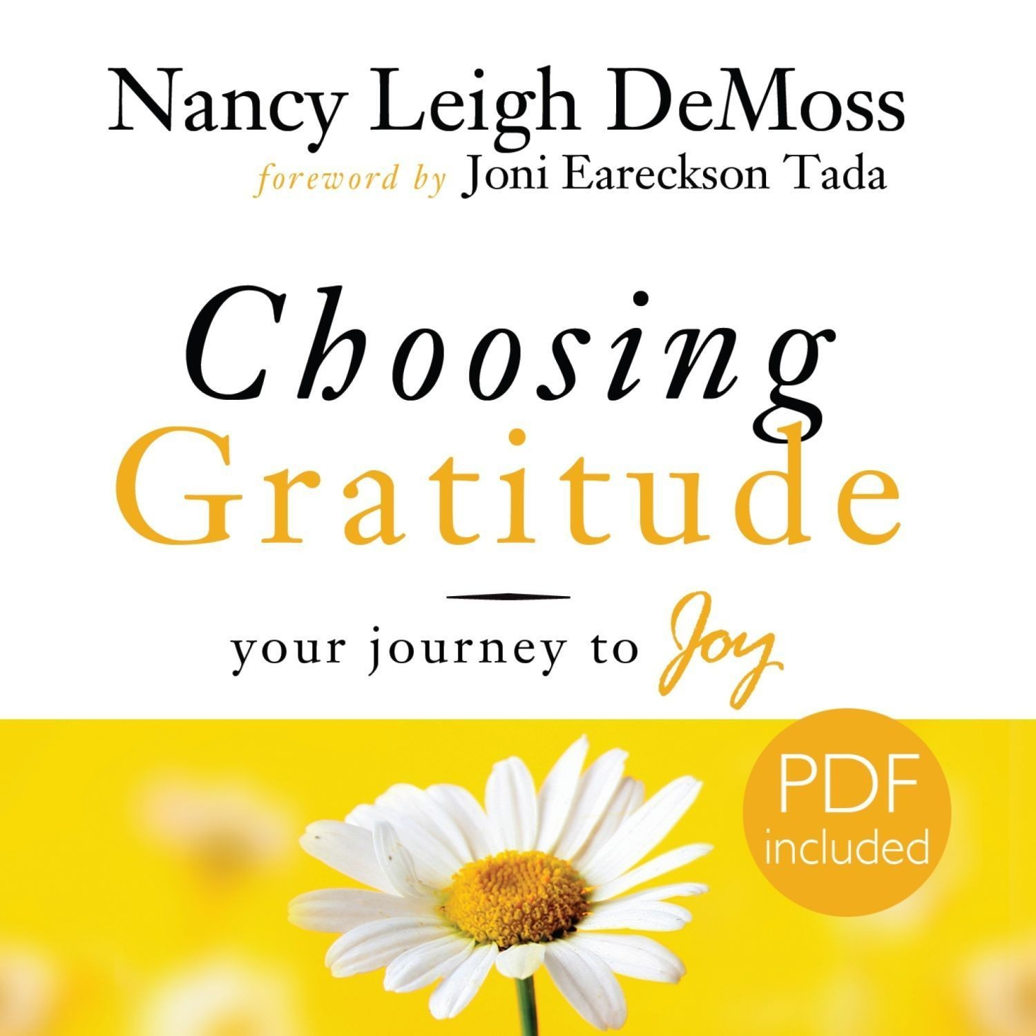 Printable Choosing Gratitude: Your Journey to Joy Audiobook Cover Art