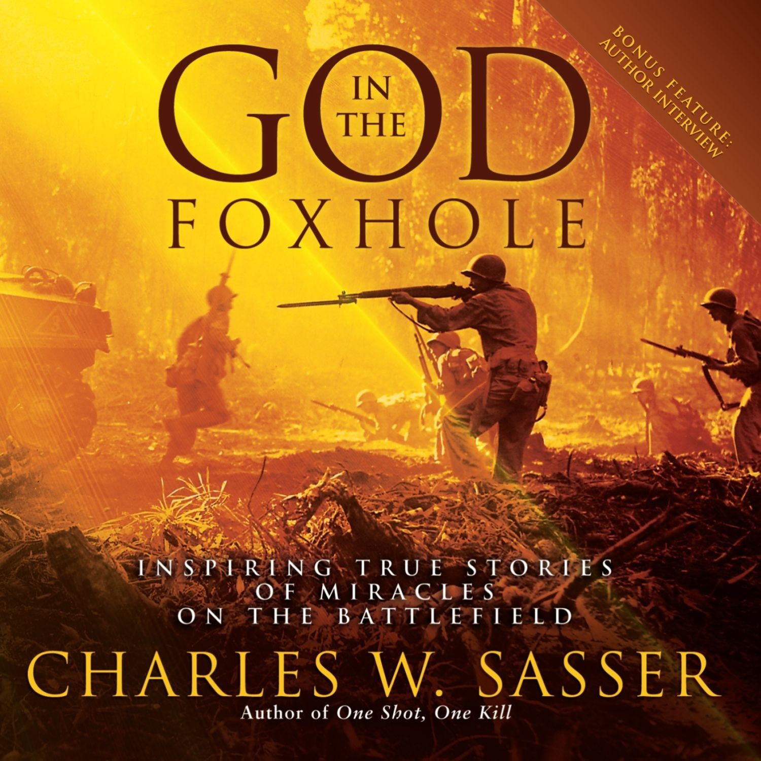 Printable God in the Foxhole: Inspiring True Stories of Miracles on the Battlefield Audiobook Cover Art