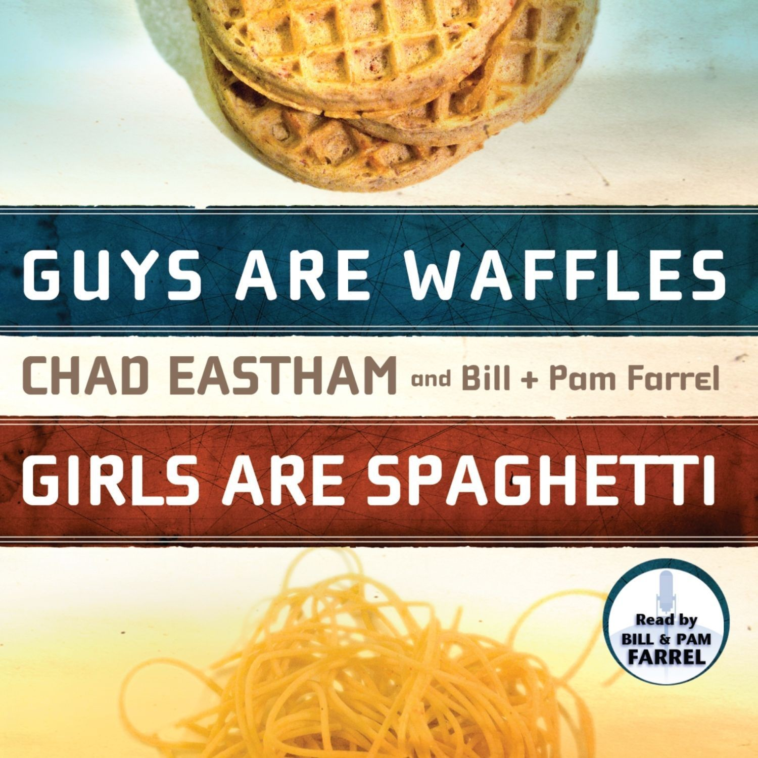 Printable Guys are Waffles, Girls are Spaghetti Audiobook Cover Art