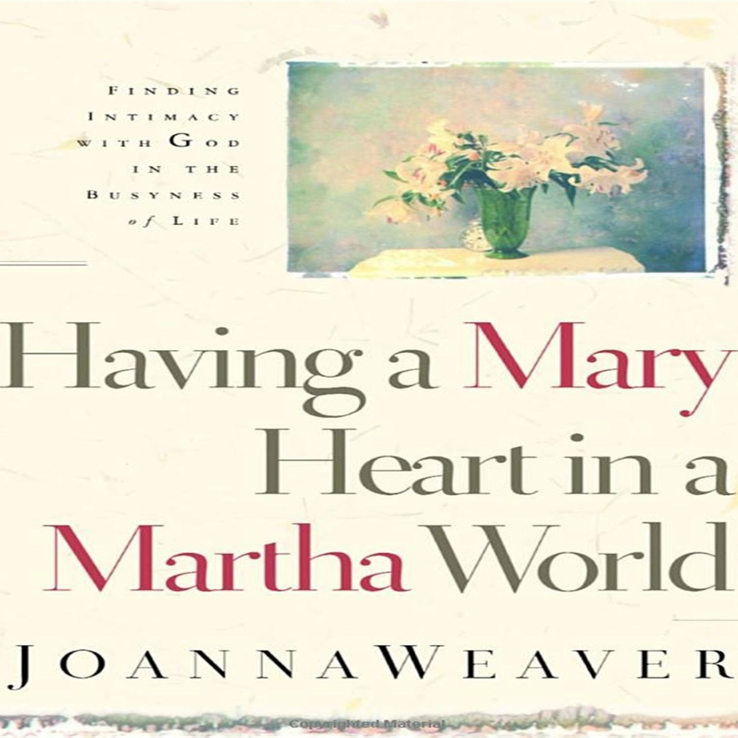Printable Having a Mary Heart in a Martha World: Finding Intimacy with God in the Busyness of Life Audiobook Cover Art