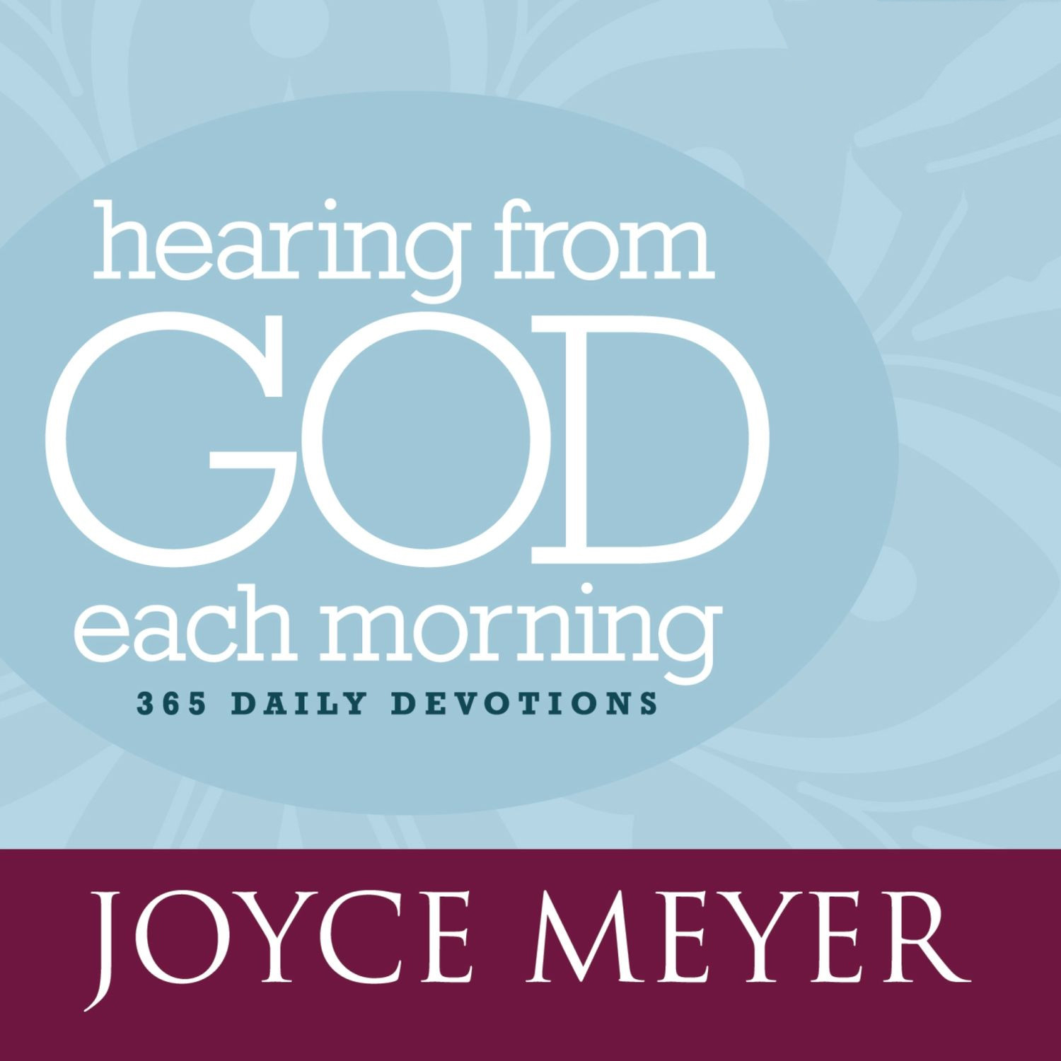 Printable Hearing from God Each Morning: 365 Daily Devotions Audiobook Cover Art