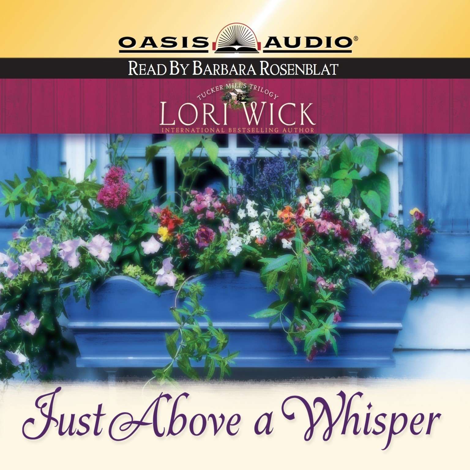 Printable Just above a Whisper Audiobook Cover Art