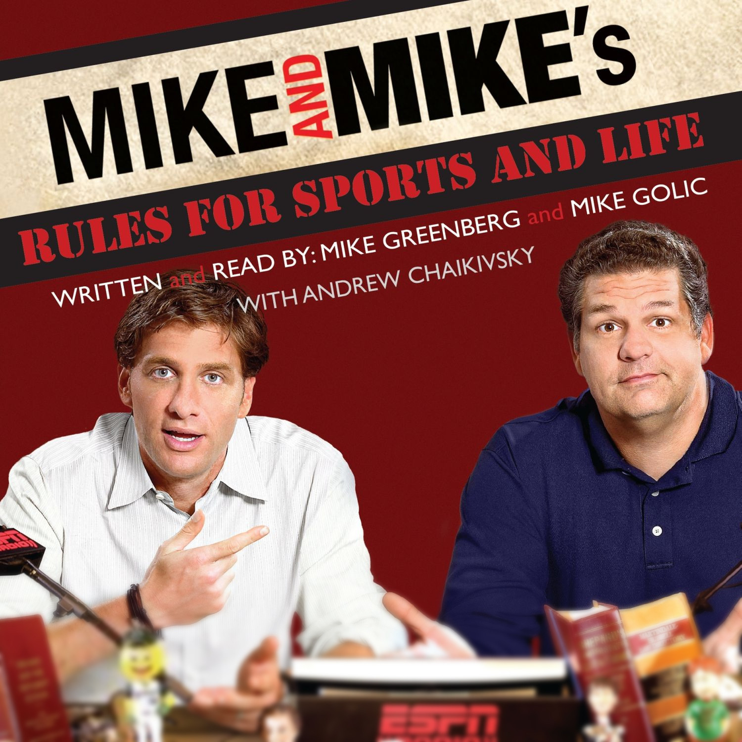 Printable Mike and Mike's Rules for Sports and Life Audiobook Cover Art