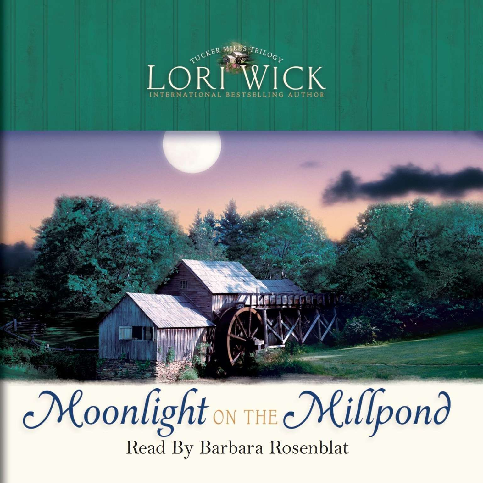 Printable Moonlight on the Millpond Audiobook Cover Art
